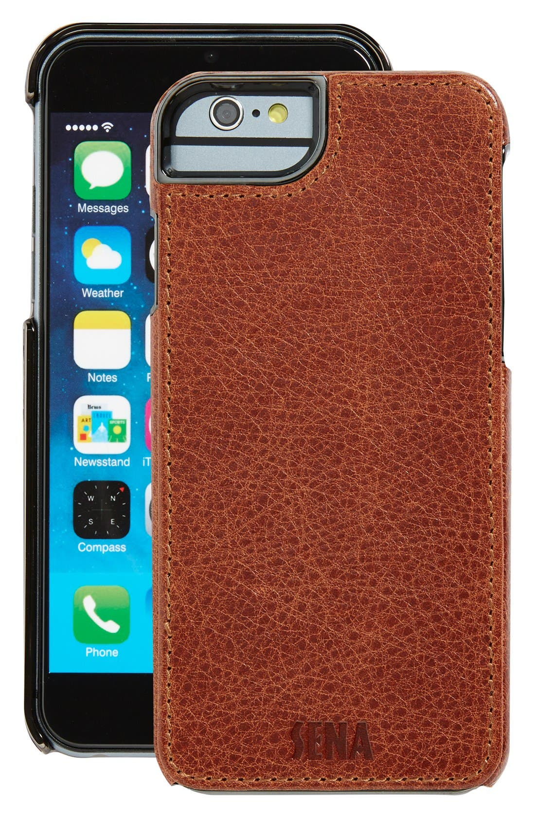 Heritage Lugano Leather iPhone 6/6s Case,                             Main thumbnail 3, color,