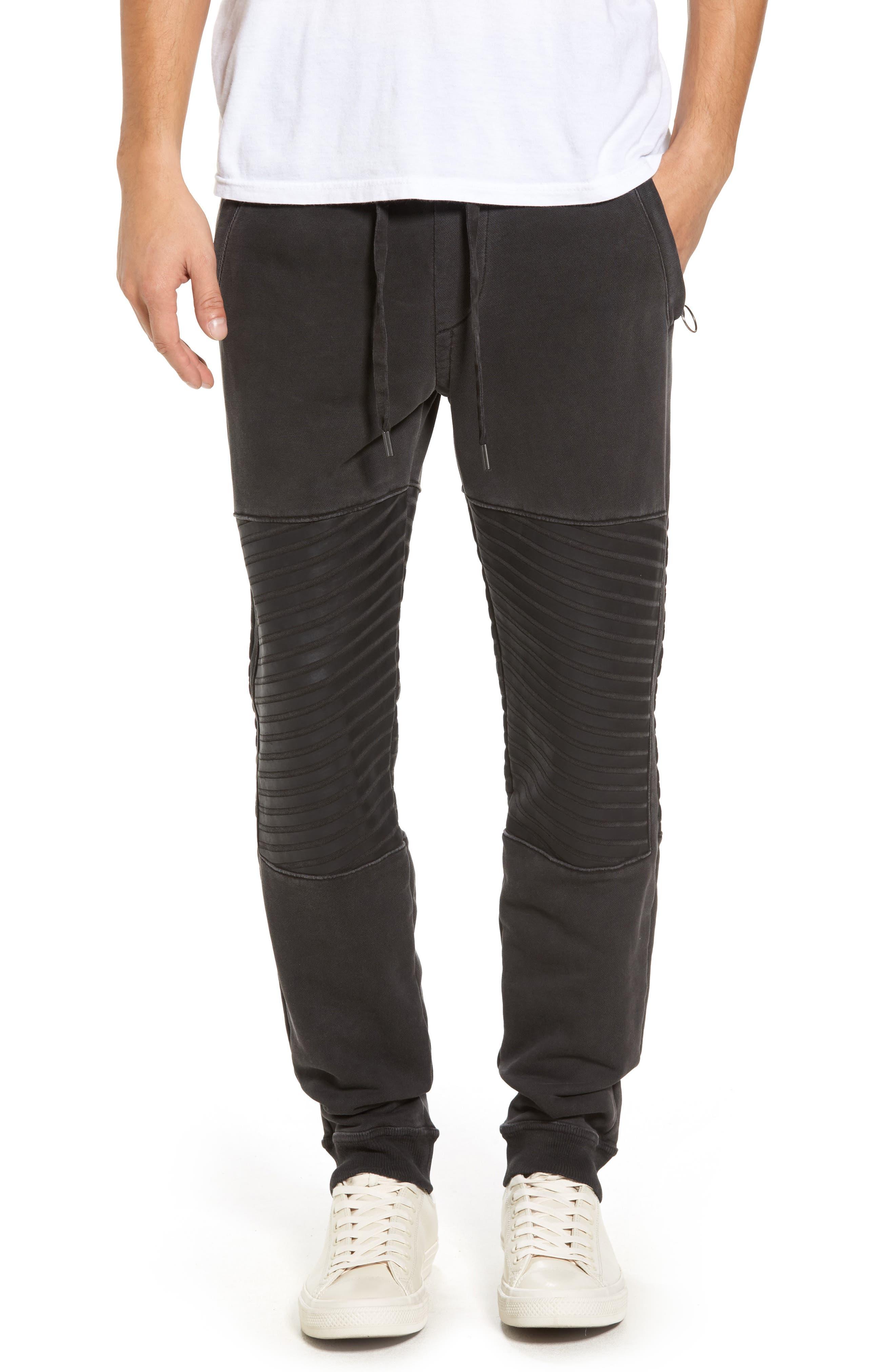 Moto Sweatpants,                         Main,                         color, 001