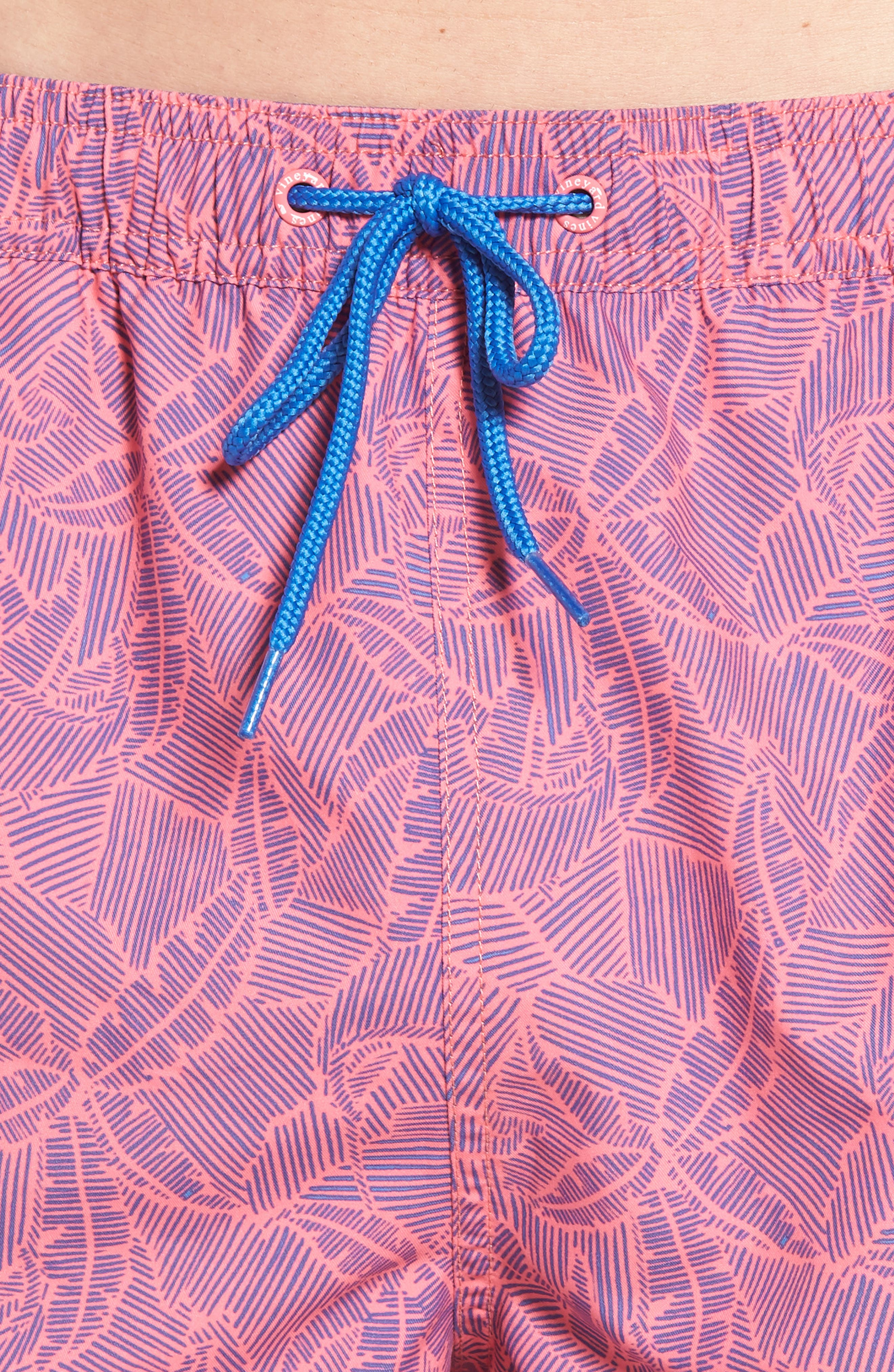 Linear Tropics Chappy Swim Trunks,                             Alternate thumbnail 4, color,                             650