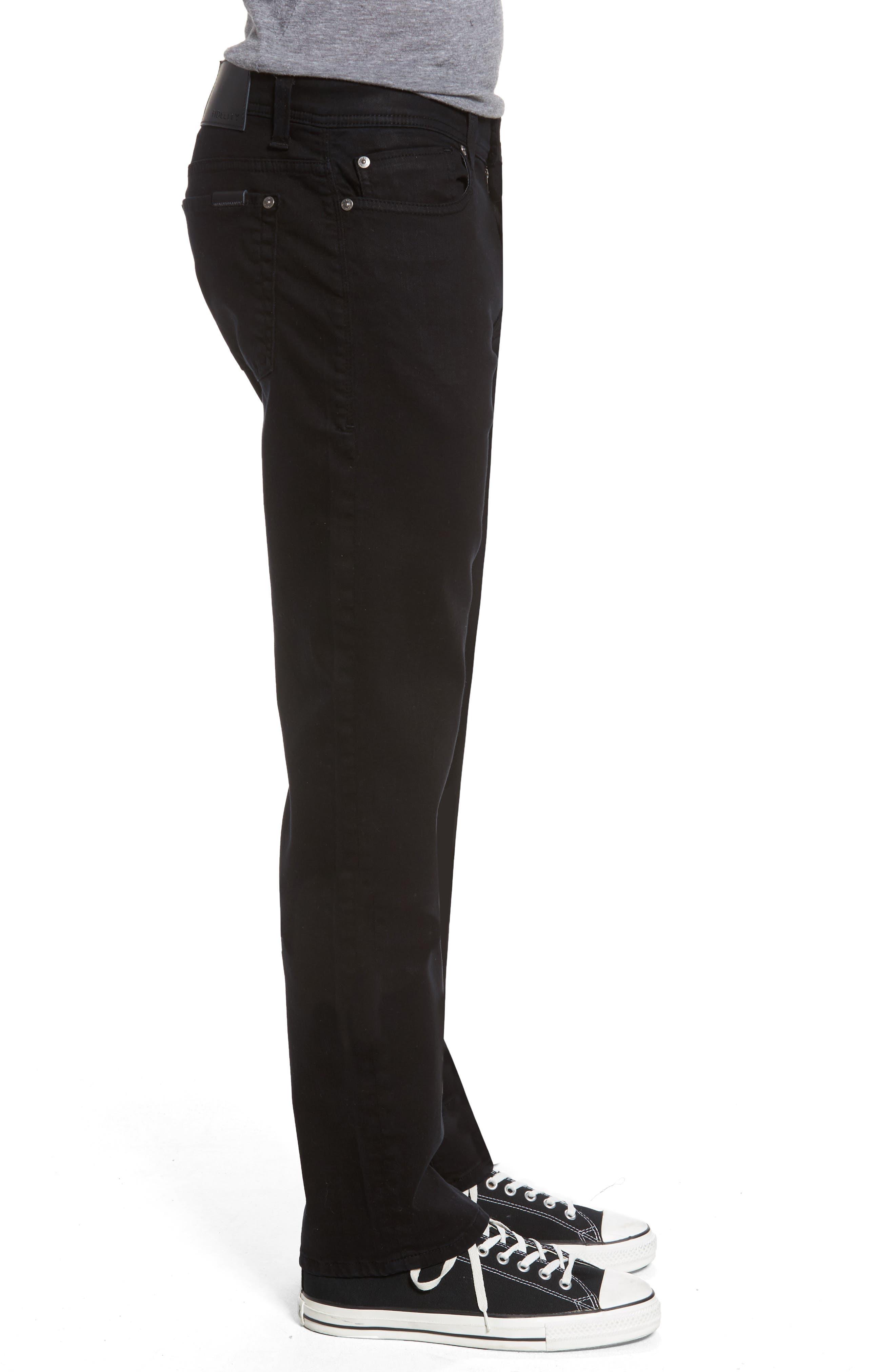 Jimmy Lumina Slim Straight Leg Twill Pants,                             Alternate thumbnail 3, color,                             BLACK