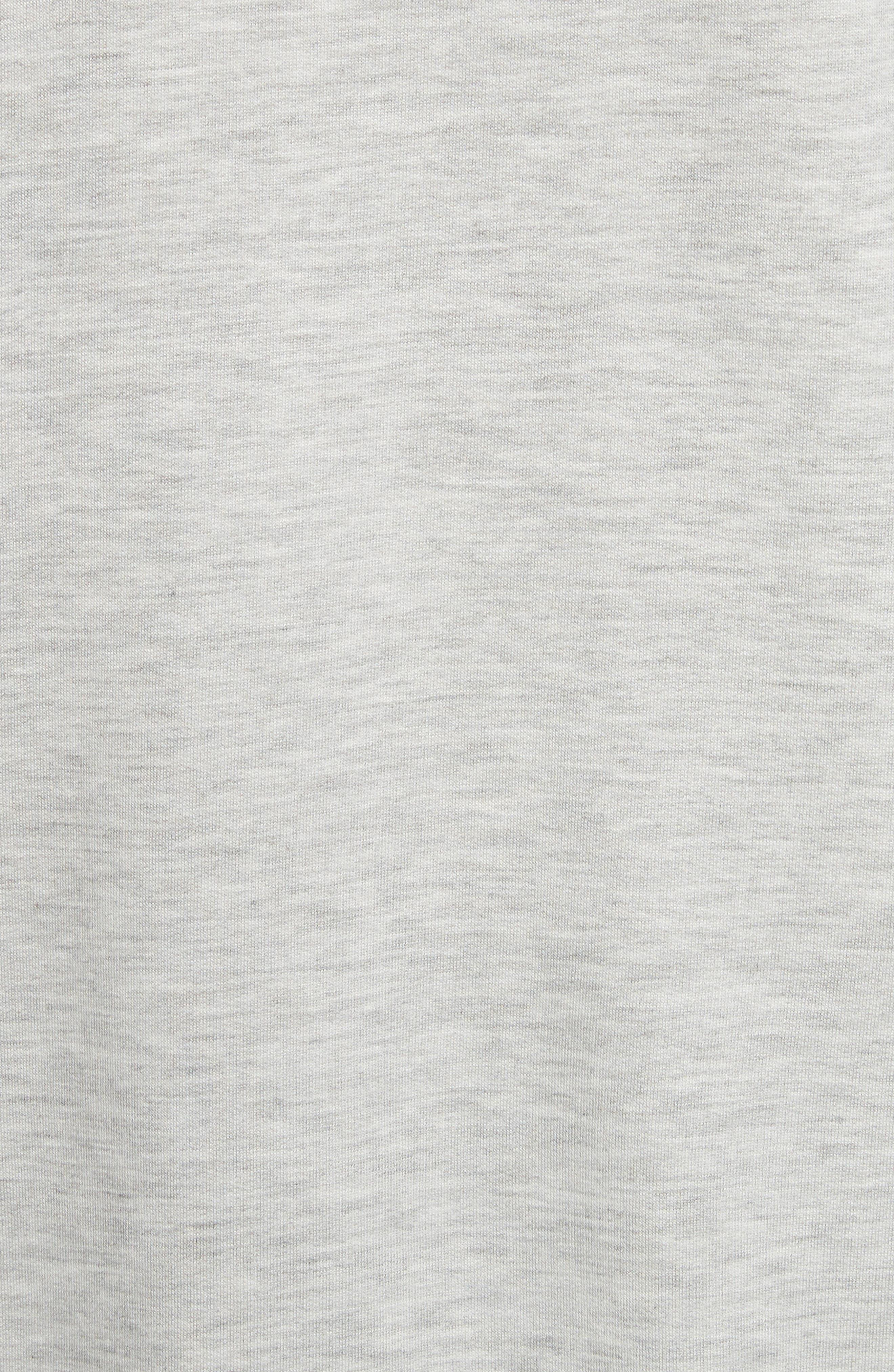 rag & bone Flora Sweatshirt,                             Alternate thumbnail 5, color,                             HEATHER GREY