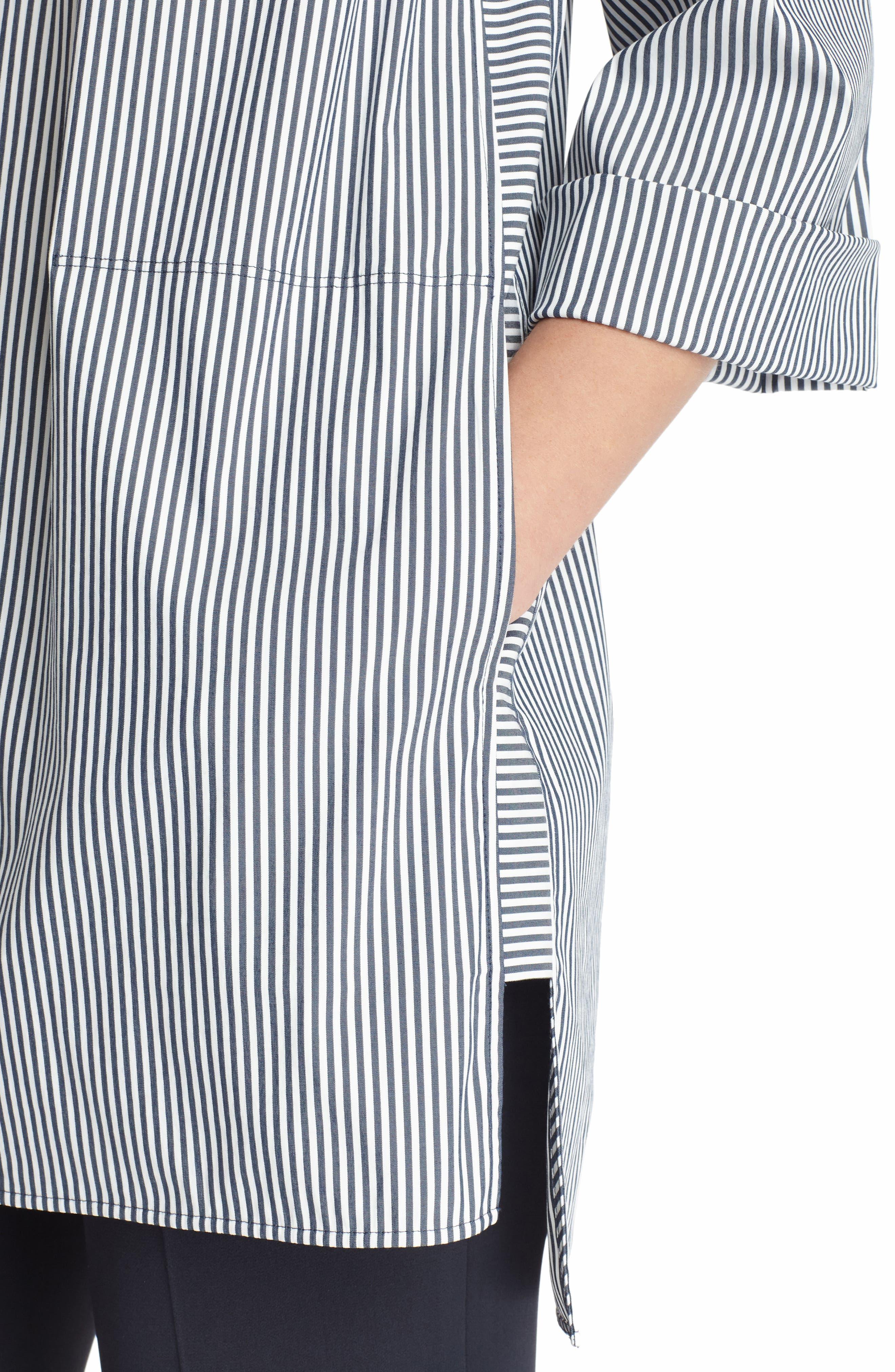 Desirae Freeport Stripe Shirting Blouse,                             Alternate thumbnail 4, color,                             412