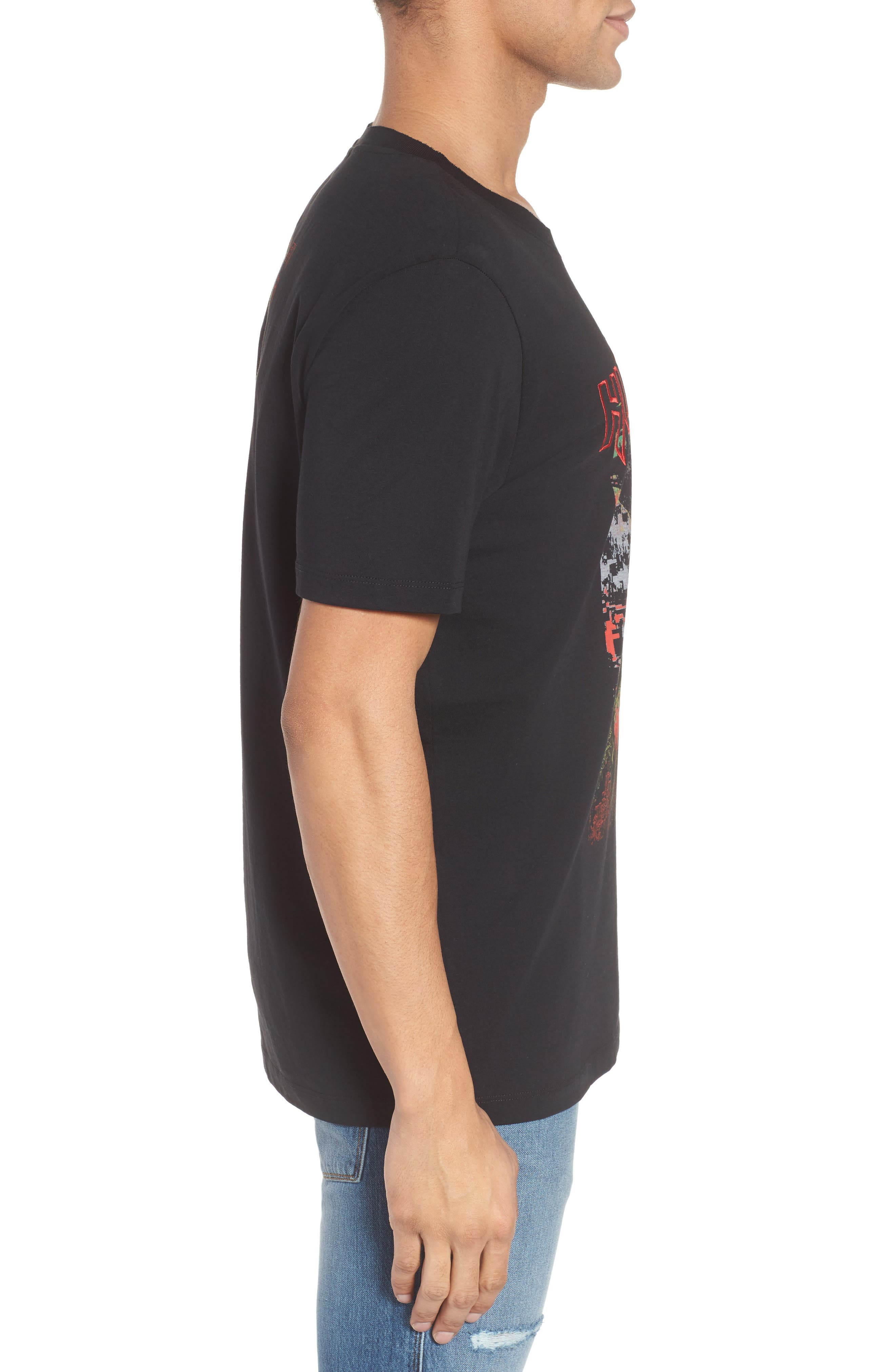 Detallic Embroidered Graphic T-Shirt,                             Alternate thumbnail 3, color,                             001