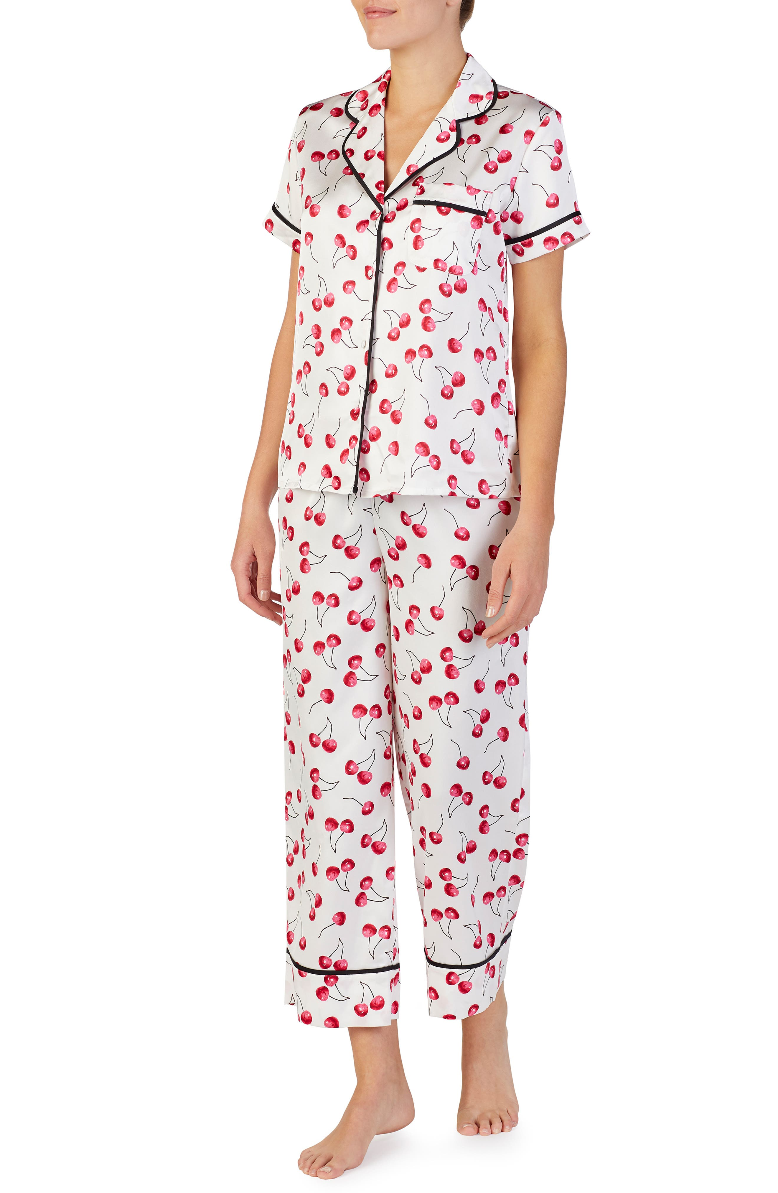 cropped pajamas,                             Main thumbnail 1, color,                             CHERRY TOSS