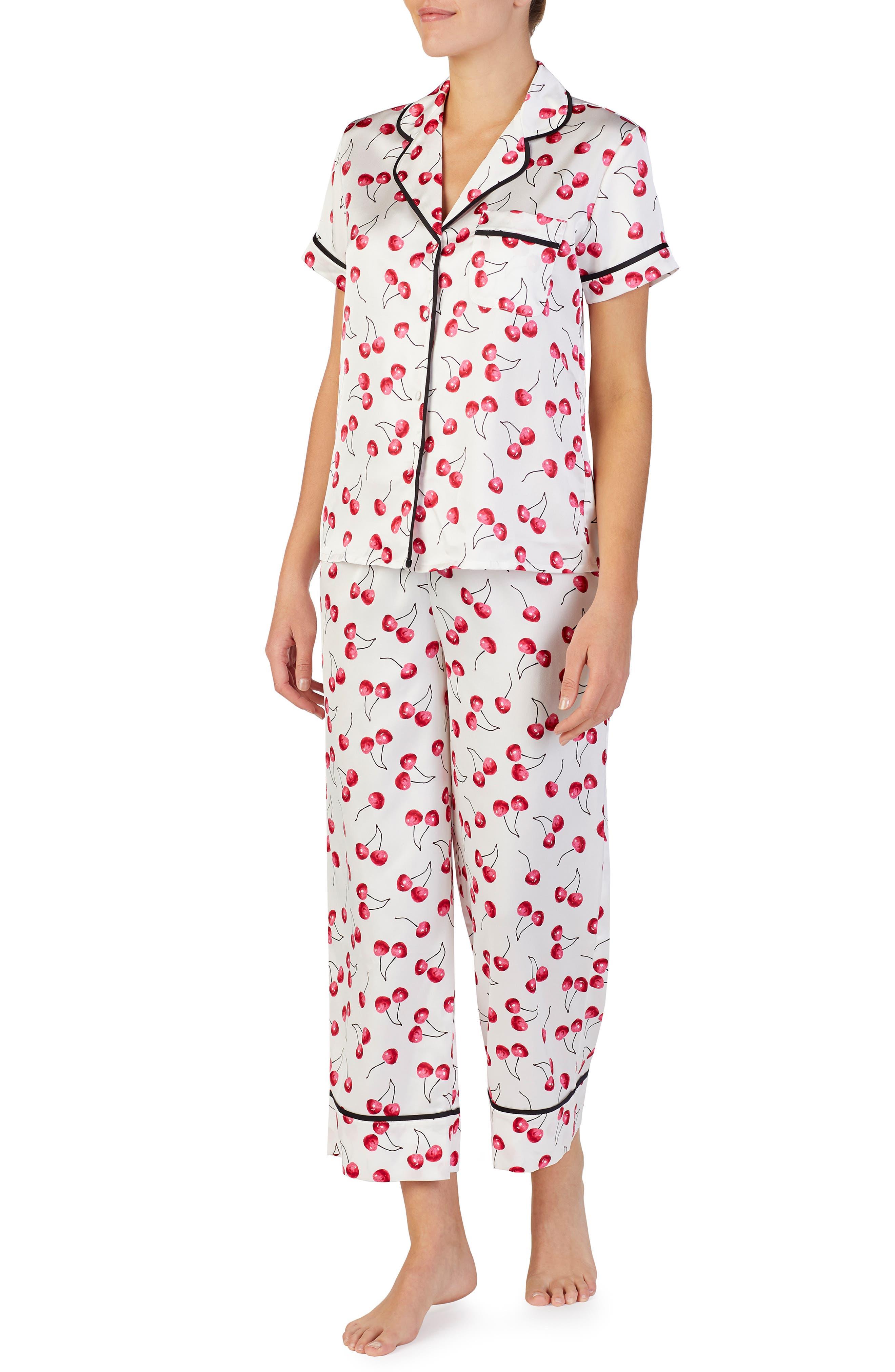 cropped pajamas, Main, color, CHERRY TOSS