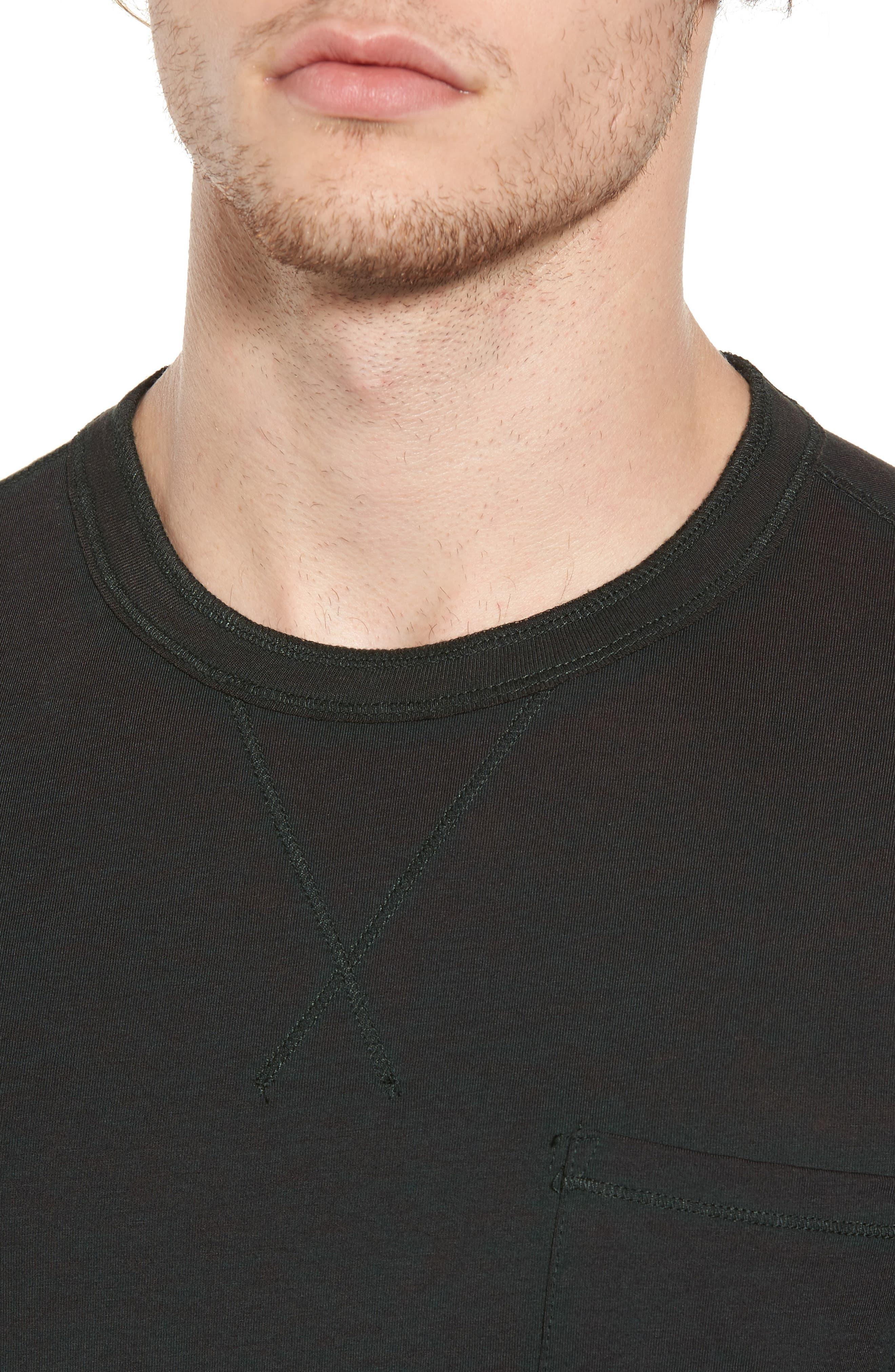 Crewneck Pocket T-Shirt,                             Alternate thumbnail 4, color,