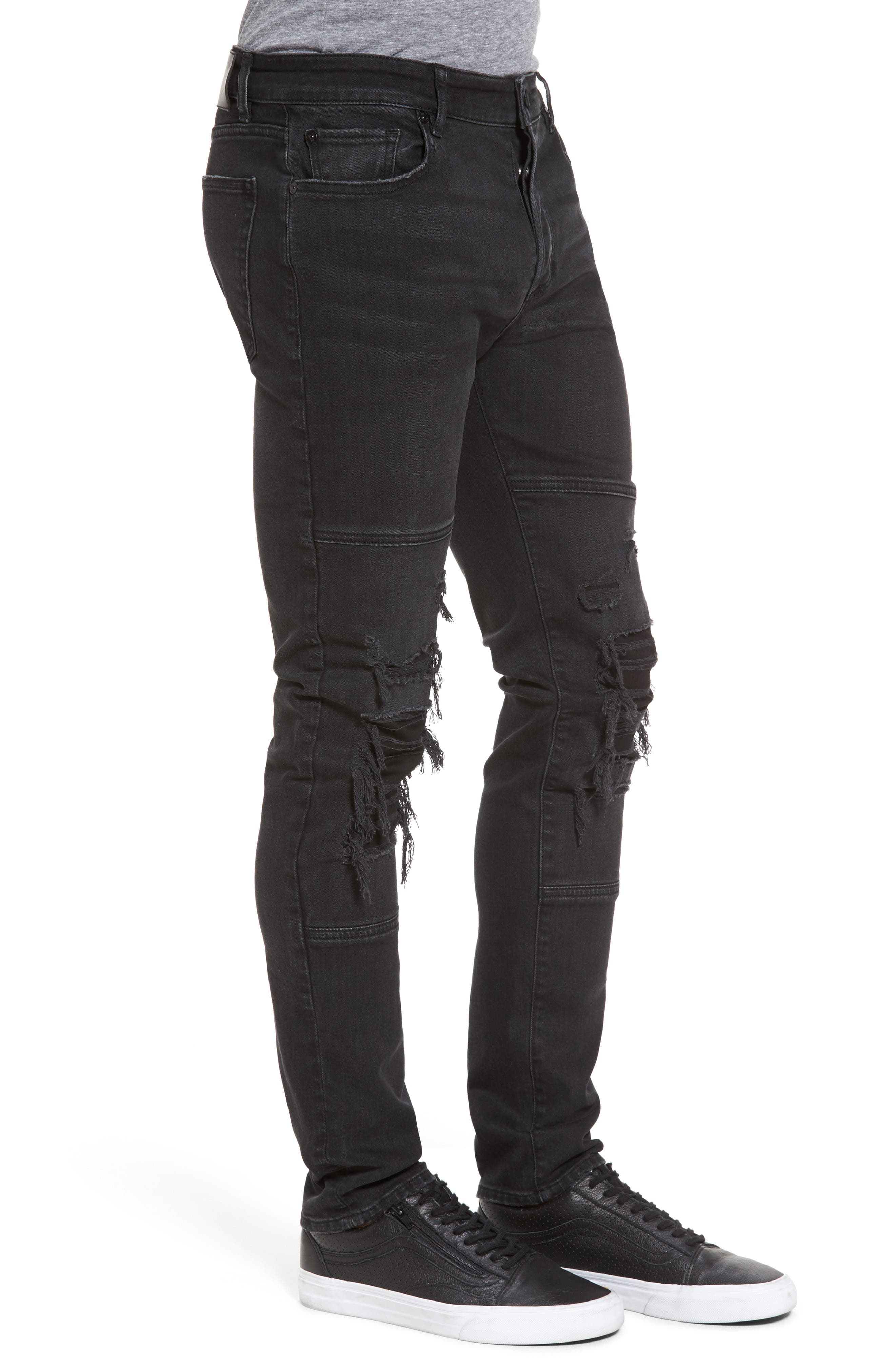 Hunter Skinny Jeans,                             Alternate thumbnail 3, color,                             001