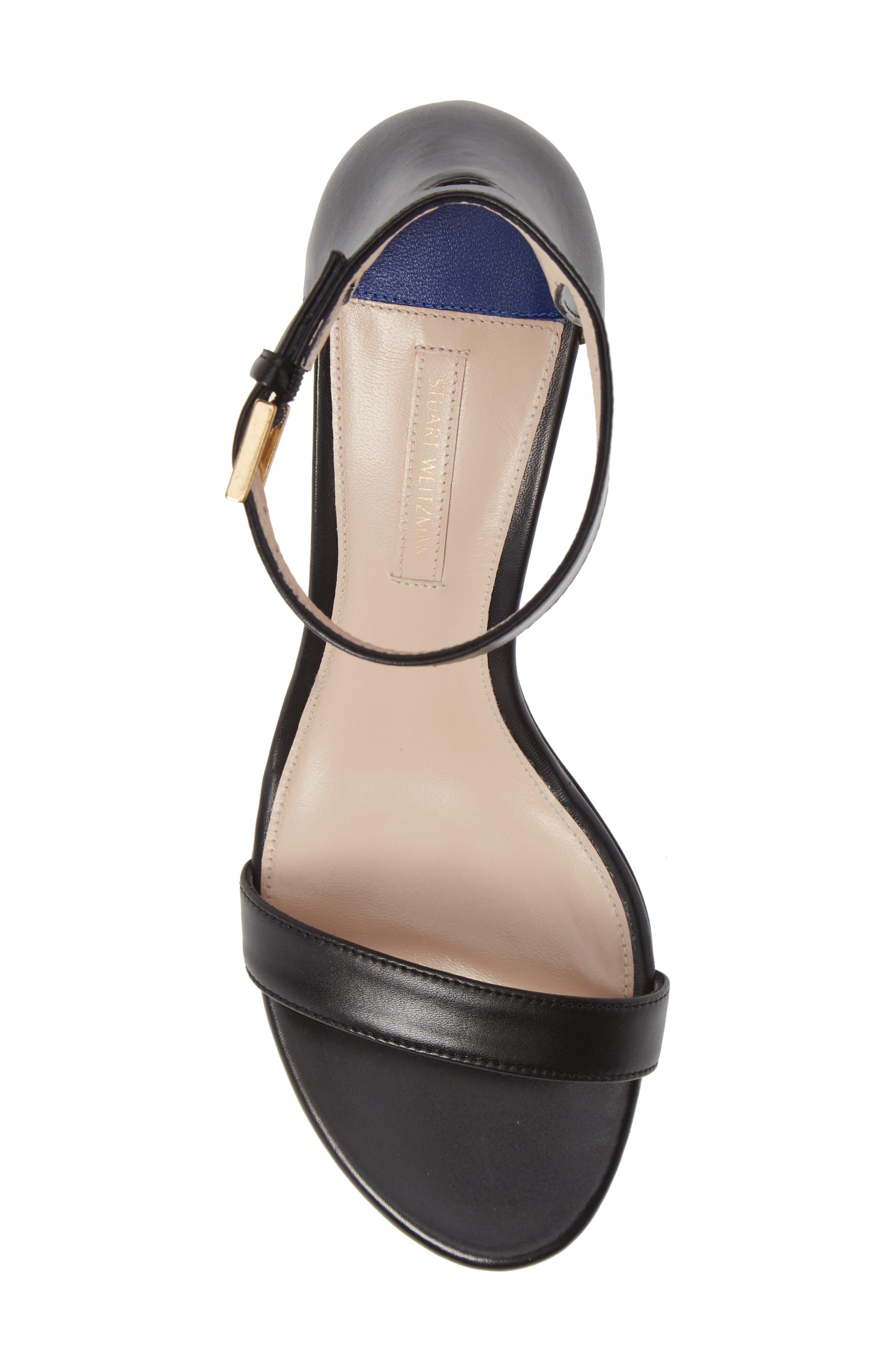 75LESSNUDIST Ankle Strap Sandal,                             Alternate thumbnail 5, color,                             BLACK NAPPA