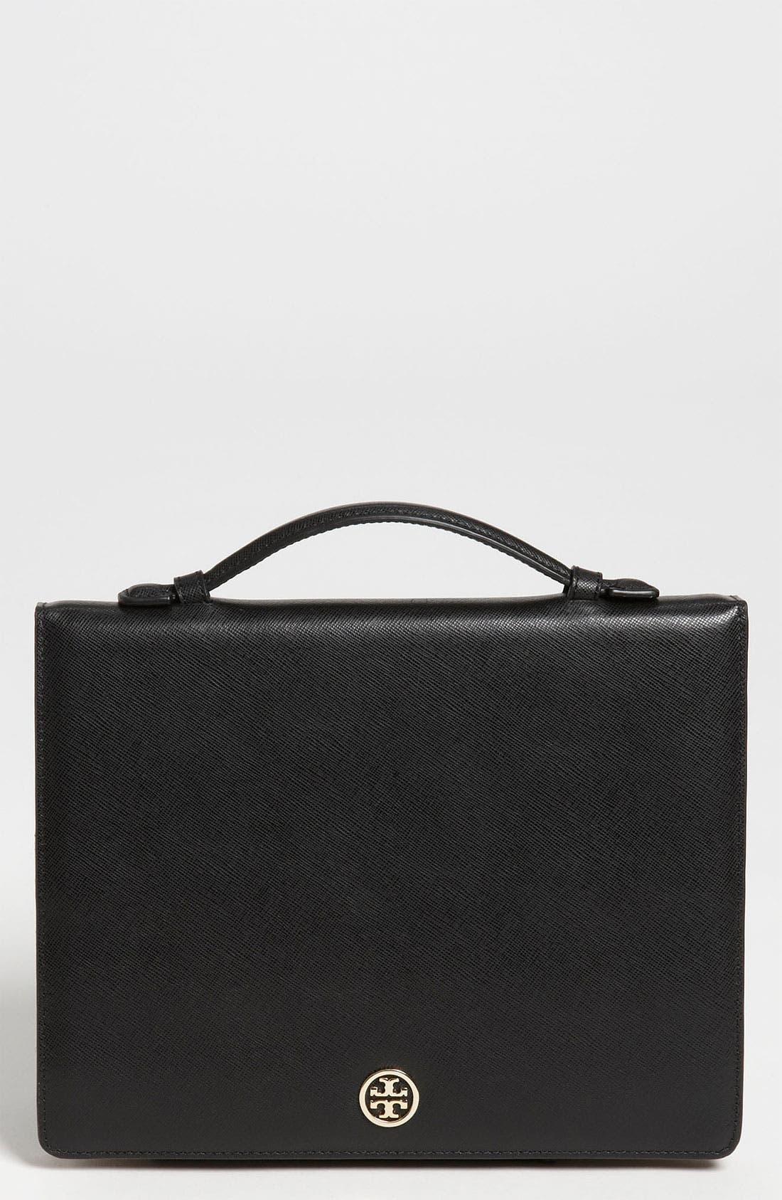 'Robinson' Saffiano Leather Tablet Case,                             Main thumbnail 1, color,                             001