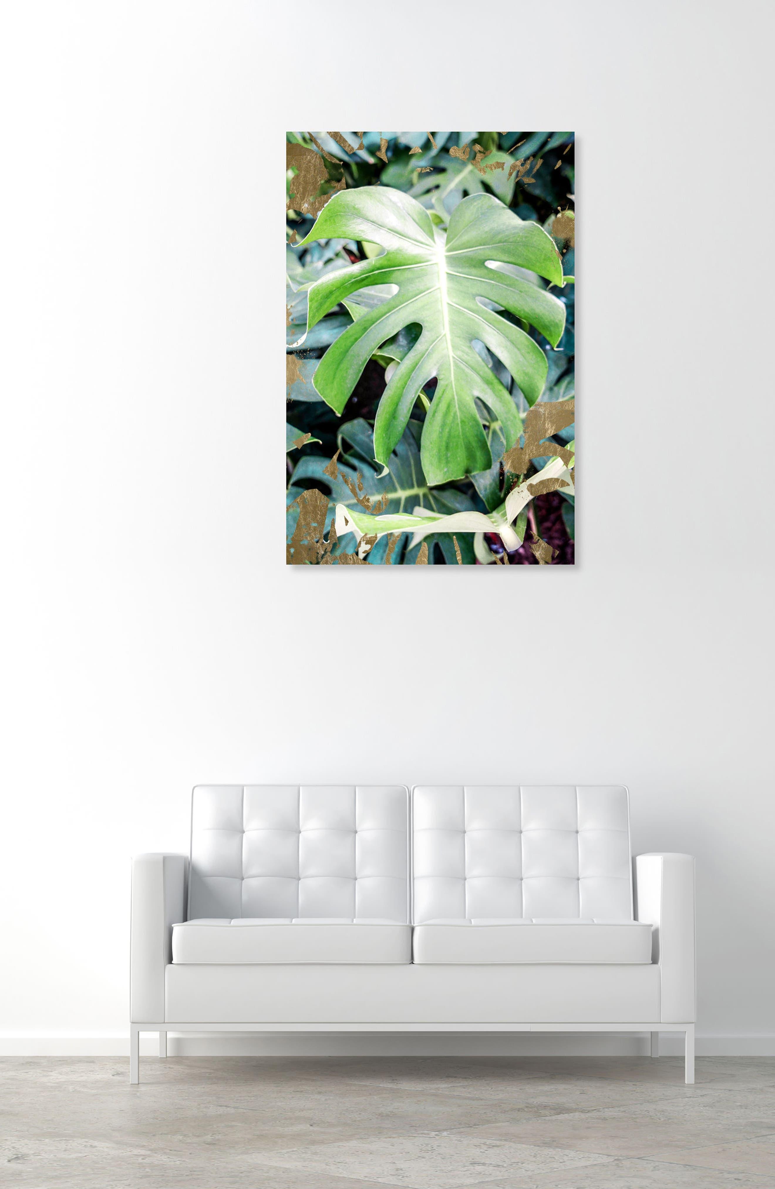 Monstera Jungle Canvas Wall Art,                             Alternate thumbnail 2, color,                             GREEN