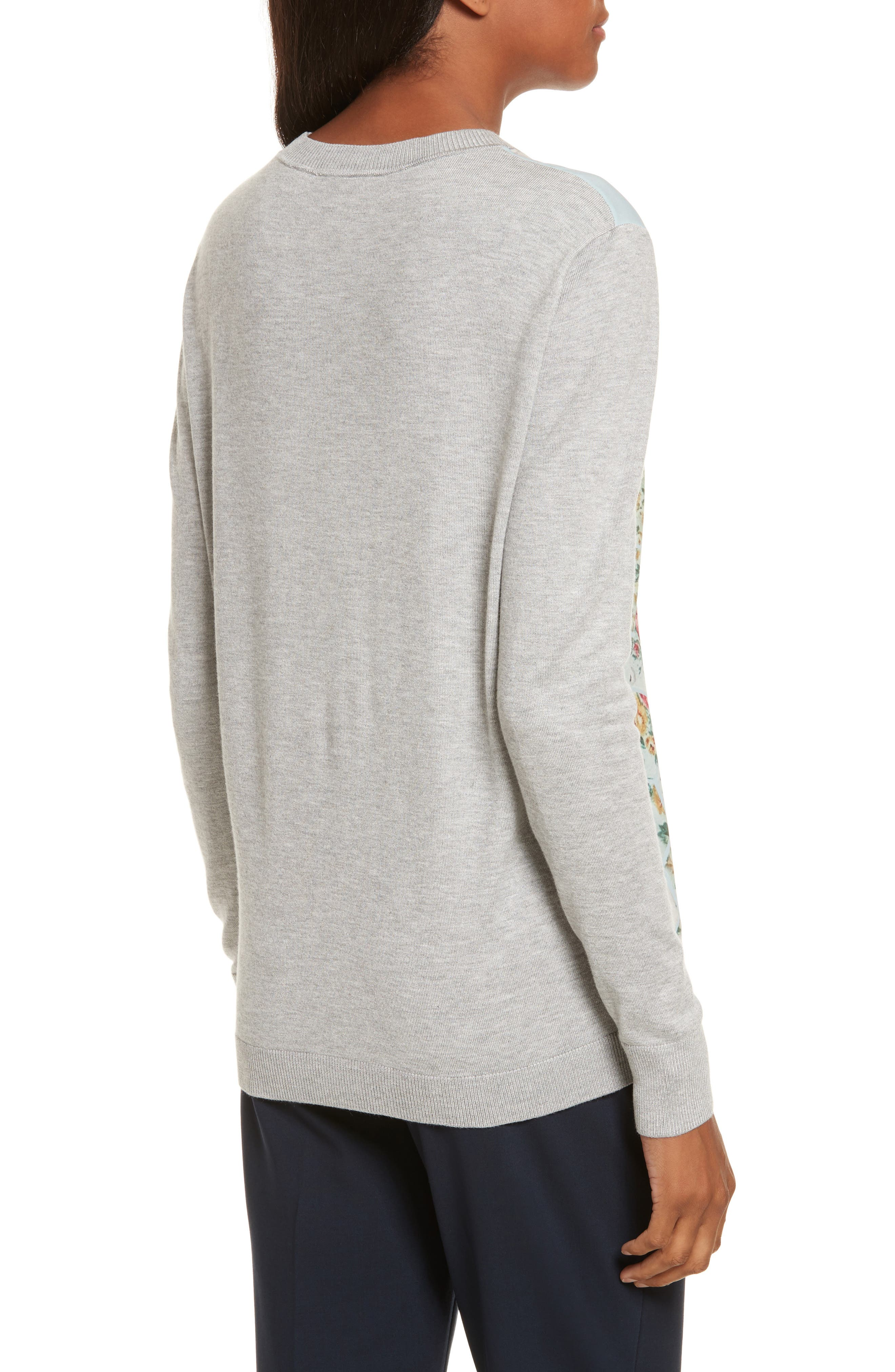 Fareeda Woven Front Patchwork Sweater,                             Alternate thumbnail 2, color,                             451