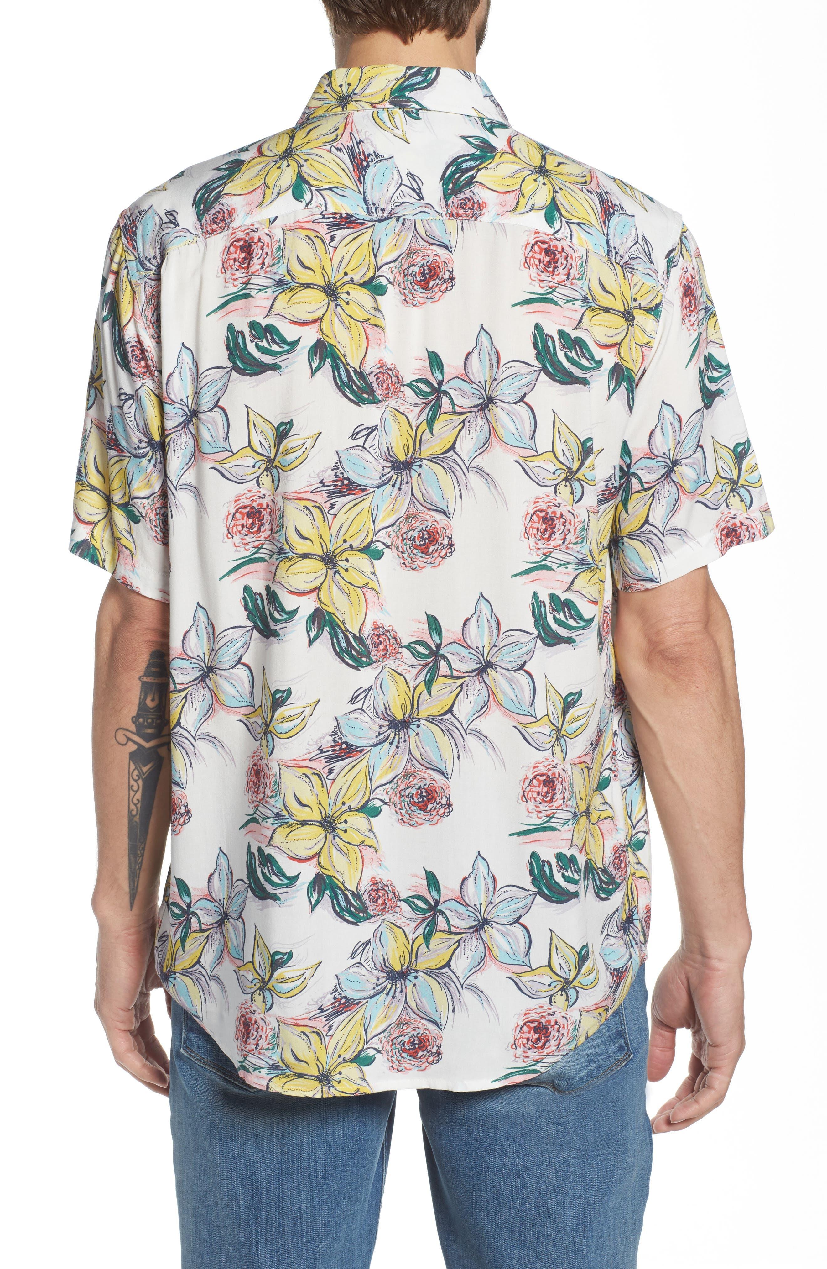 Hawaiian Print Sport Shirt,                             Alternate thumbnail 2, color,                             400