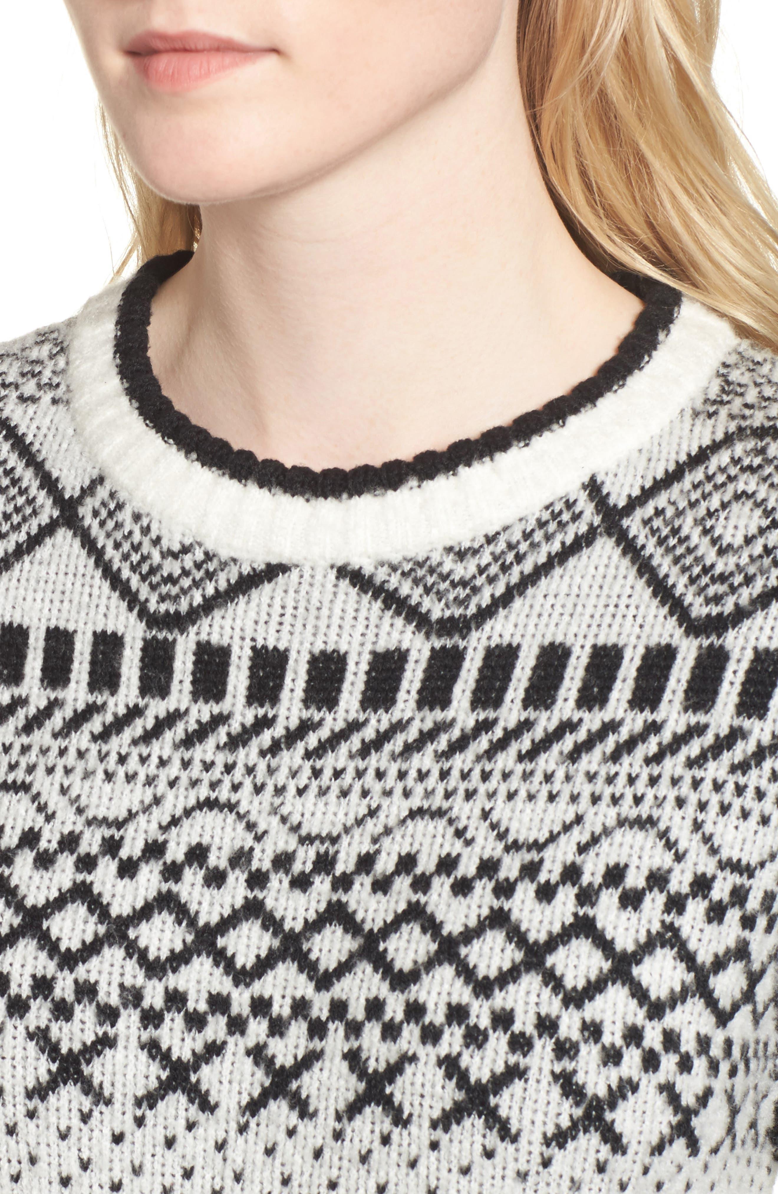 Fair Isle Sweater,                             Alternate thumbnail 4, color,                             900