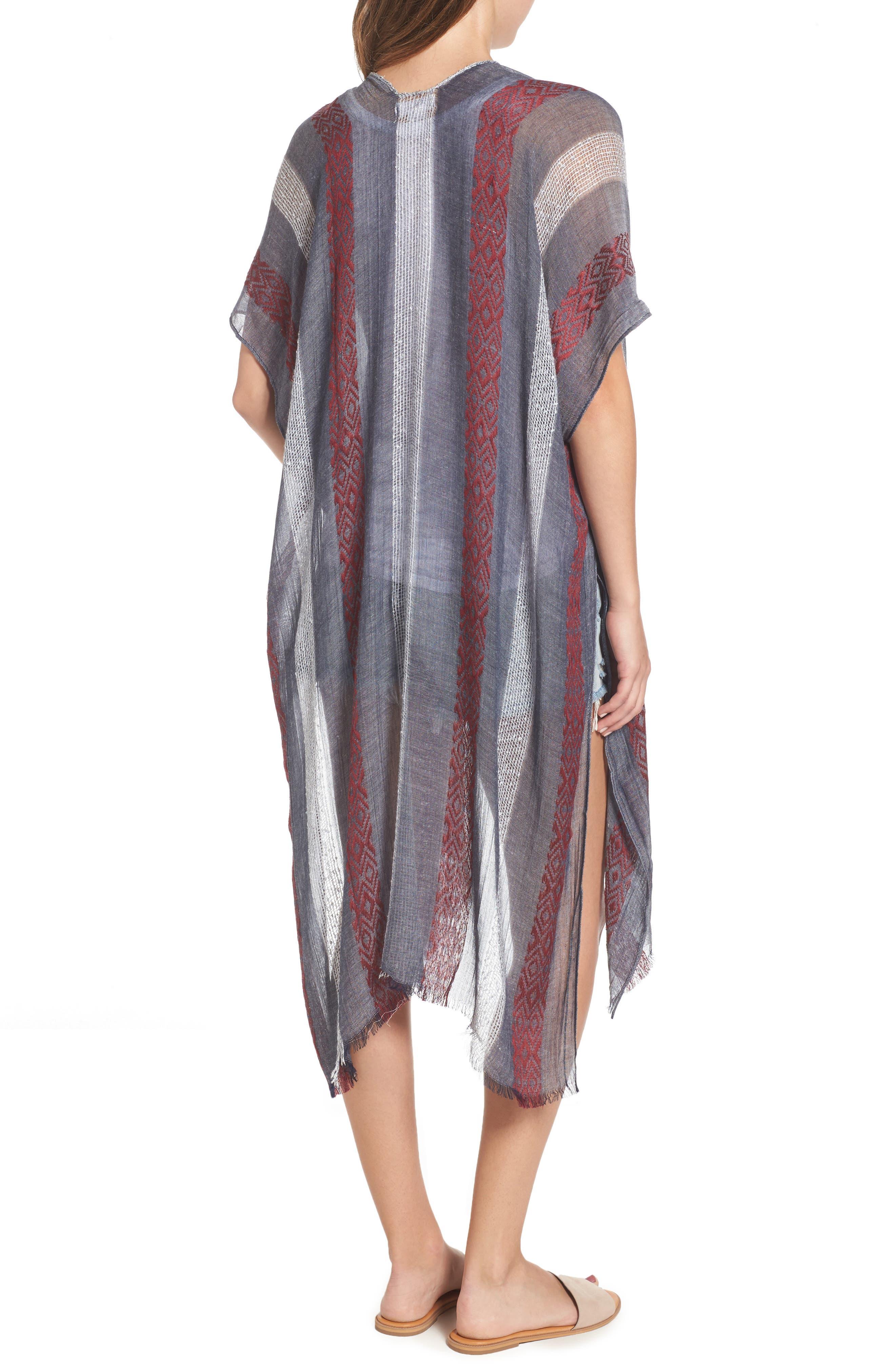 Knit Duster Kimono,                             Alternate thumbnail 2, color,                             020