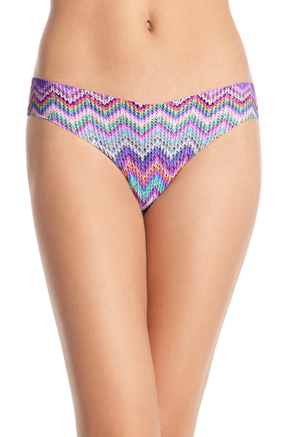Print Microfiber Thong,                             Main thumbnail 87, color,