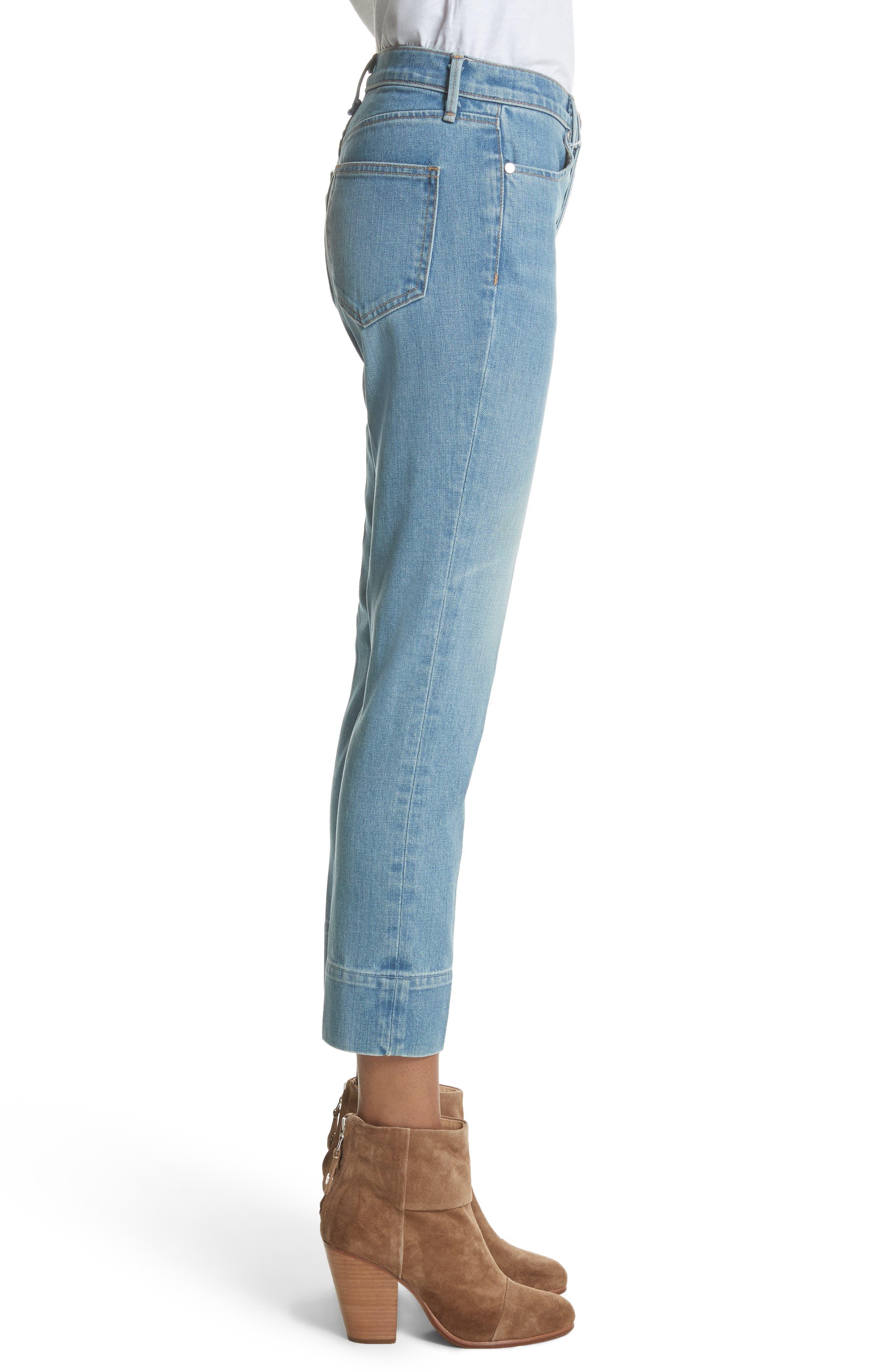 Ankle Cigarette Jeans,                             Alternate thumbnail 3, color,                             420