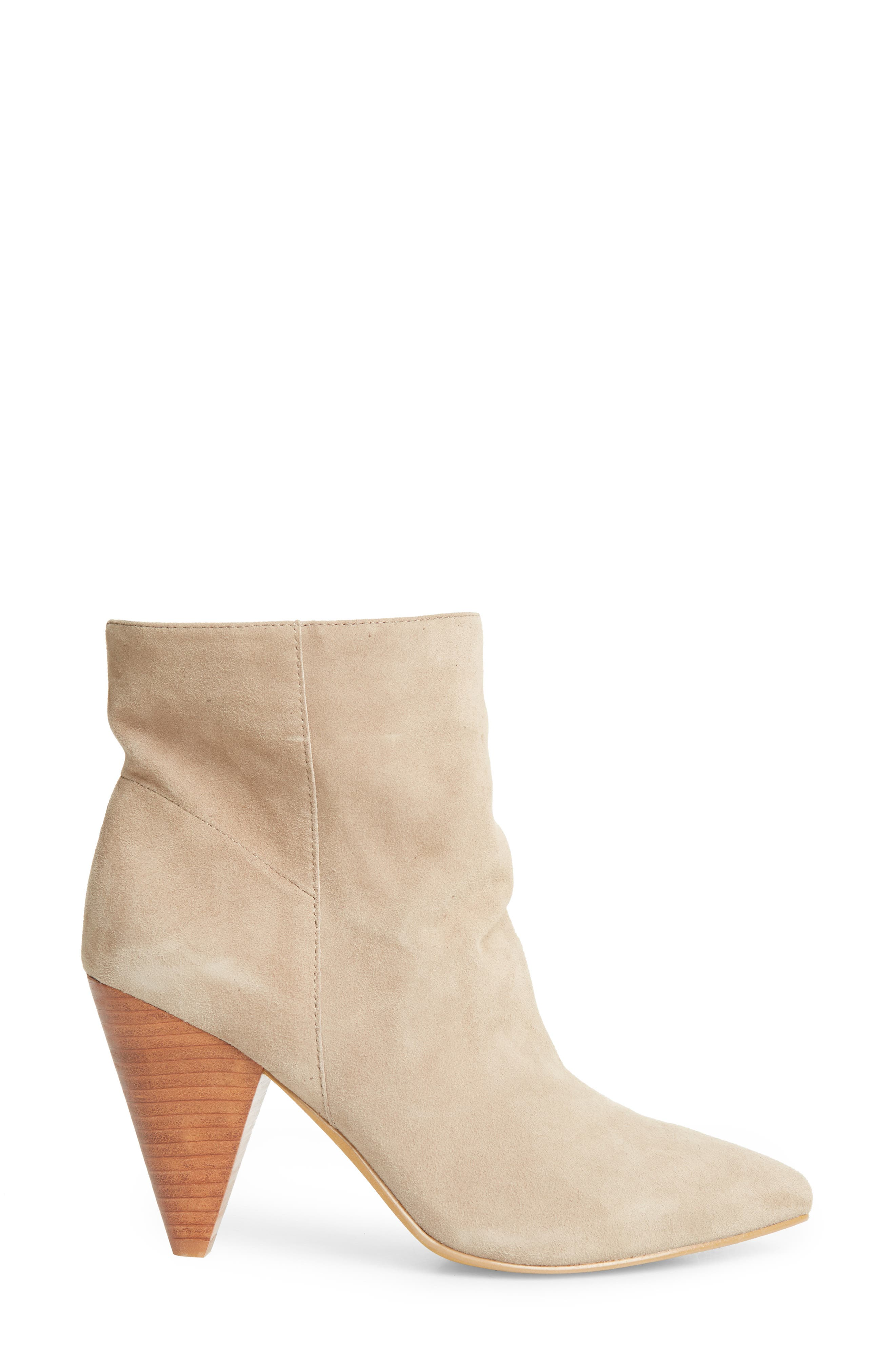 Scope Bootie,                             Alternate thumbnail 3, color,                             TAUPE SUEDE