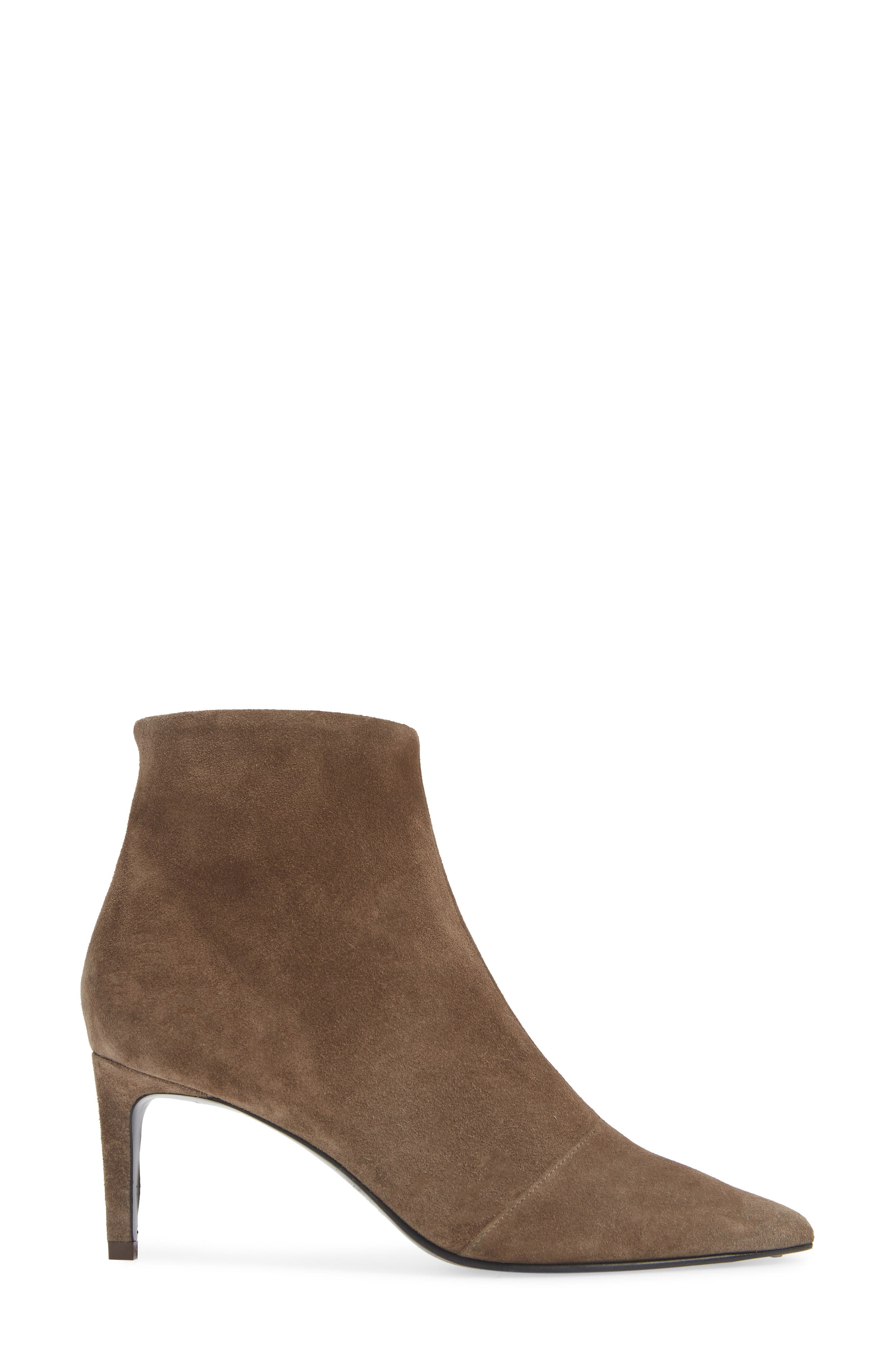 Beha Pointy Toe Bootie,                             Alternate thumbnail 3, color,                             TAUPE SUEDE