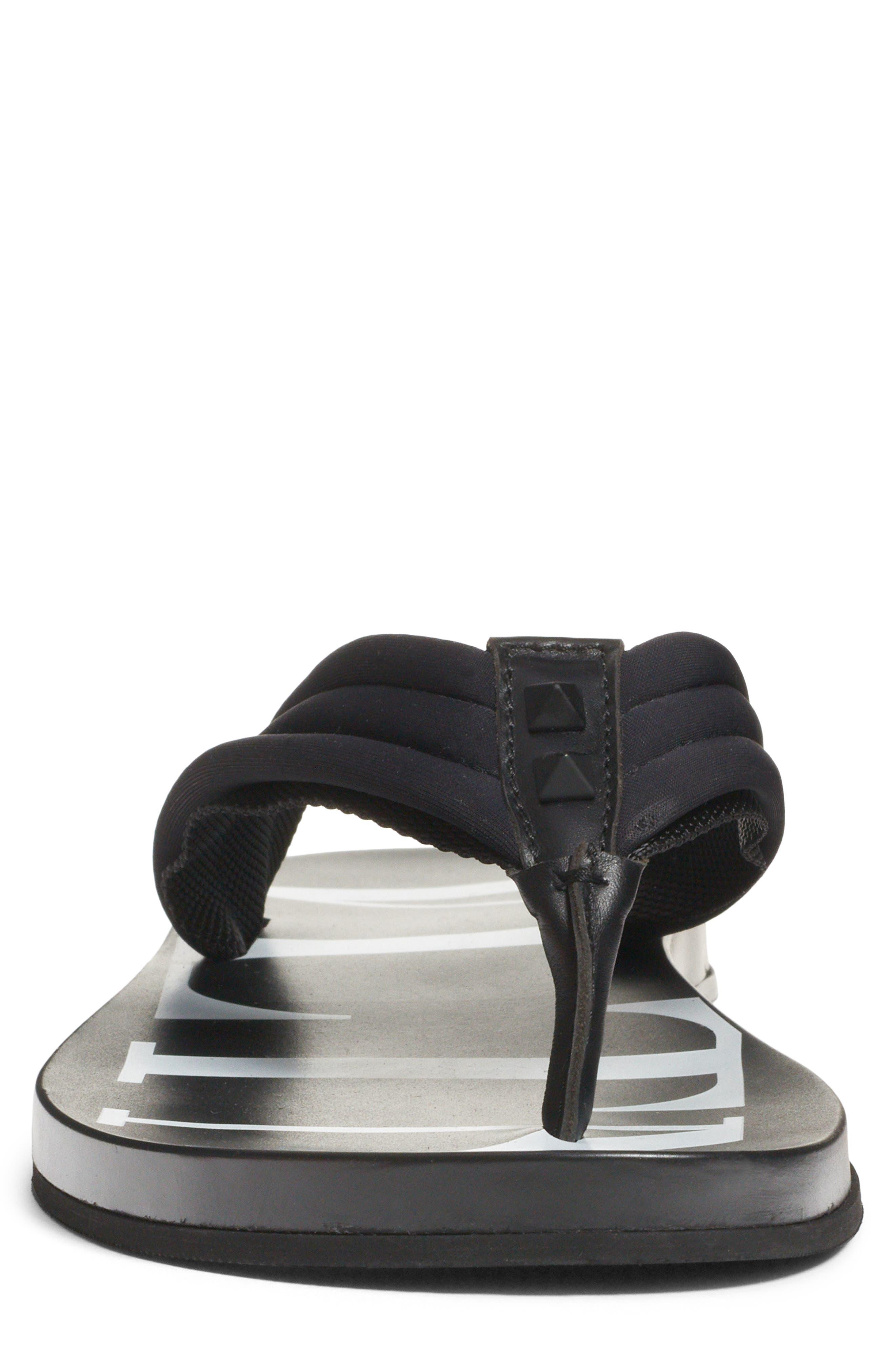 Sandal,                             Alternate thumbnail 4, color,                             BLACK/ WHITE