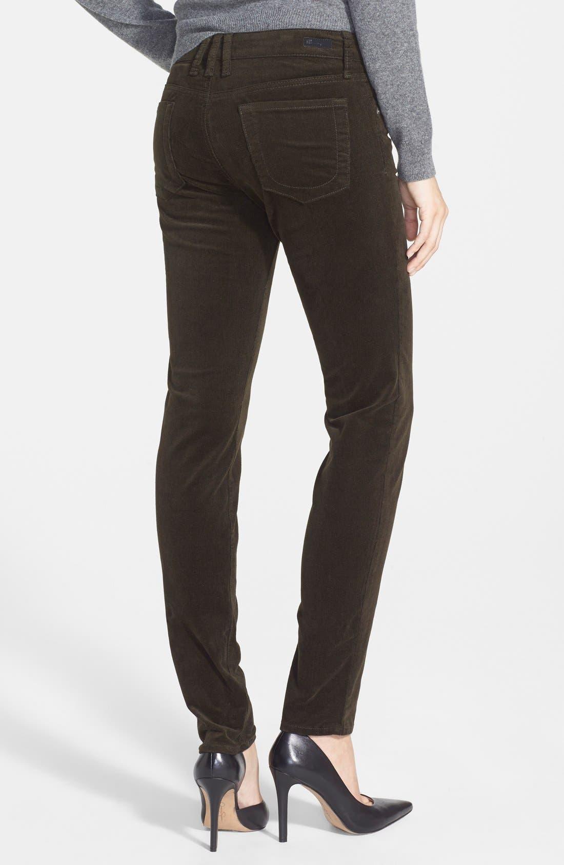 'Diana' Stretch Corduroy Skinny Pants,                             Alternate thumbnail 129, color,