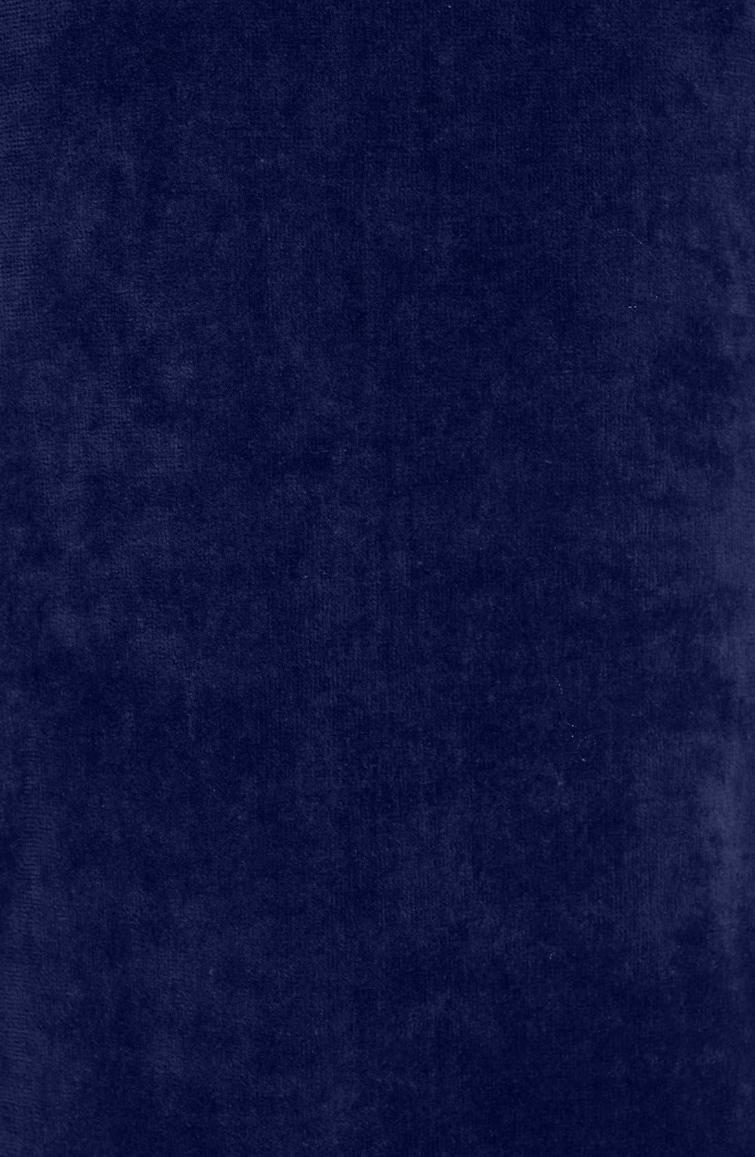 Cotton Fleece Robe,                             Alternate thumbnail 3, color,                             NAVY