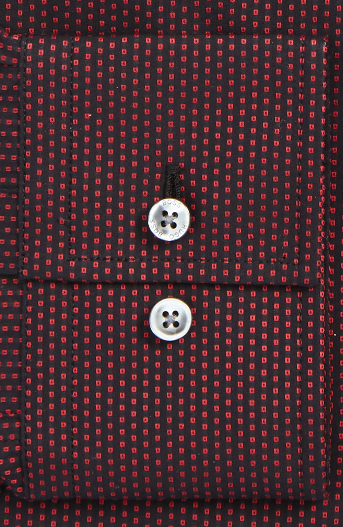 Jenno Slim Fit Print Dress Shirt,                             Alternate thumbnail 6, color,