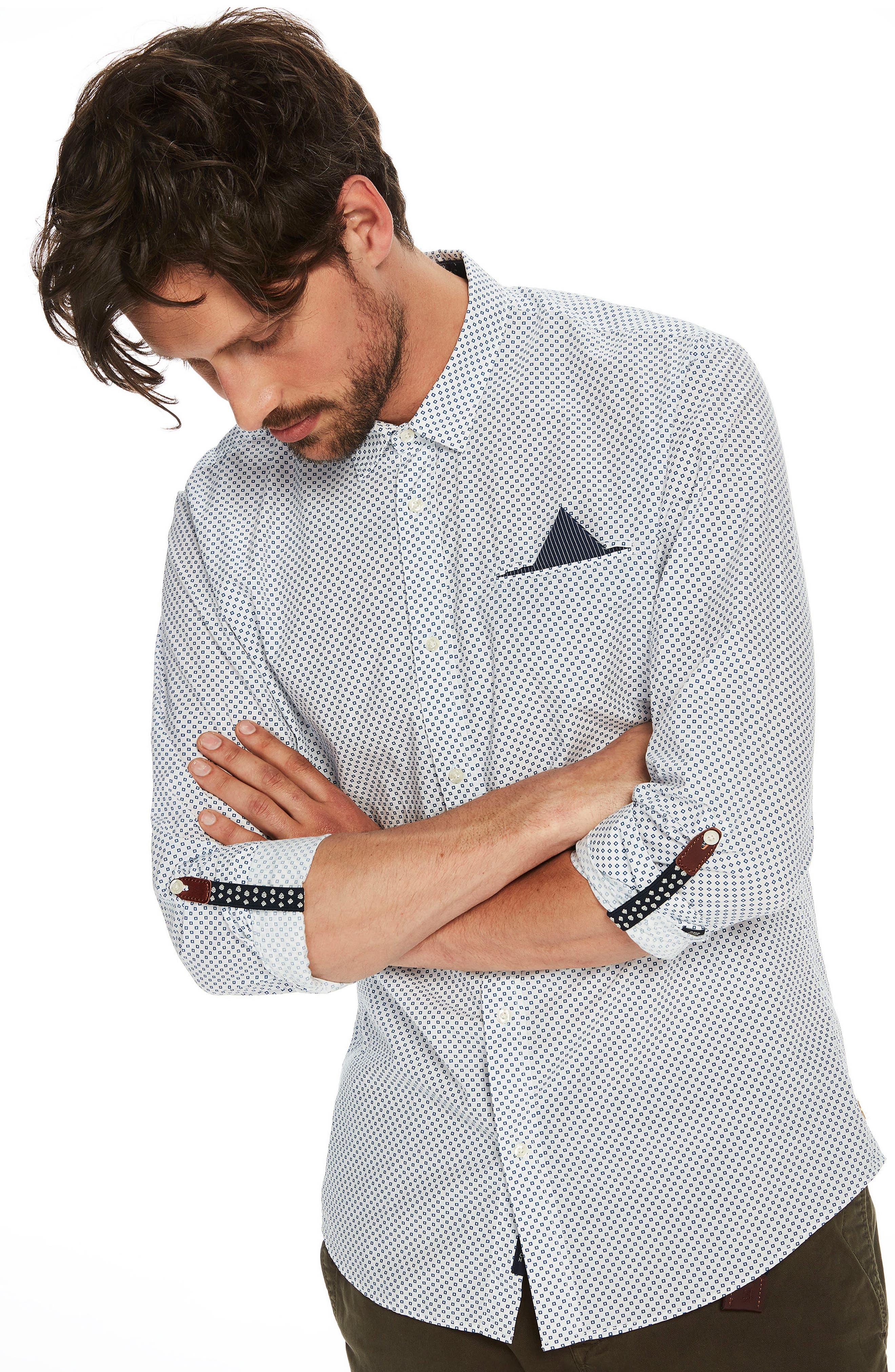 Classic Woven Shirt,                             Alternate thumbnail 3, color,                             101