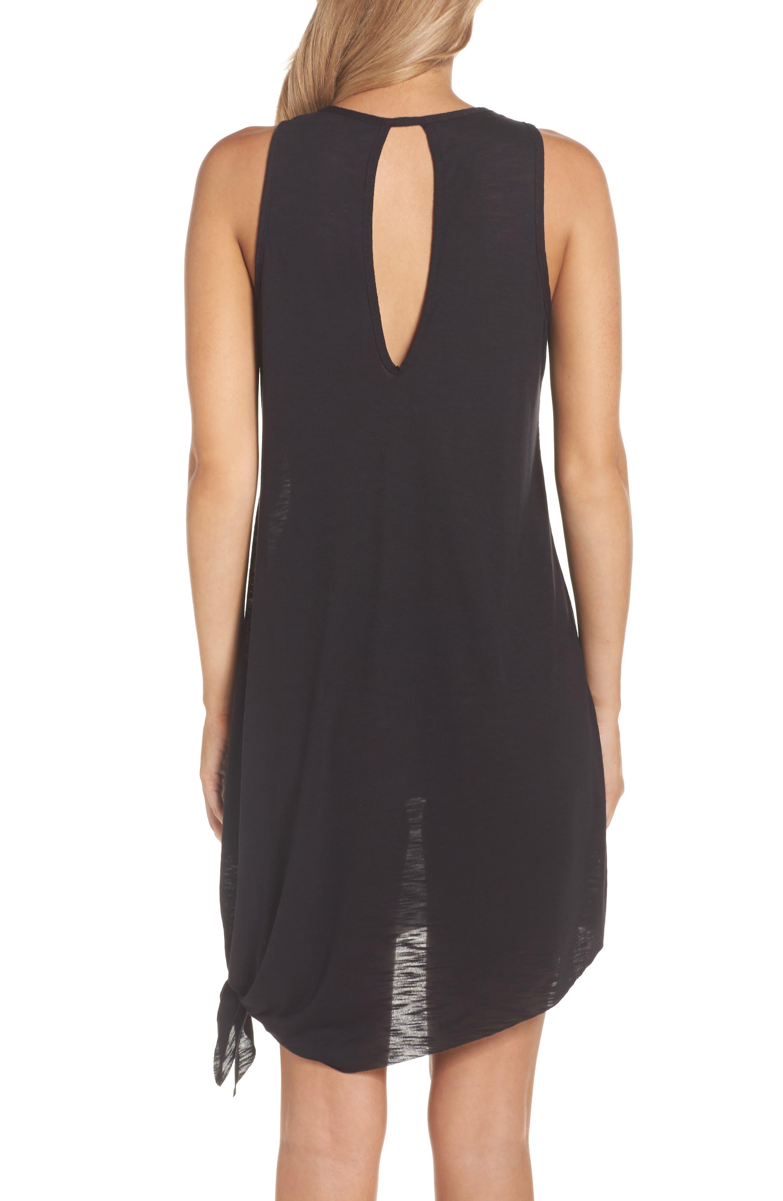 Breezy Basics Cover-Up Dress,                             Alternate thumbnail 2, color,                             BLACK