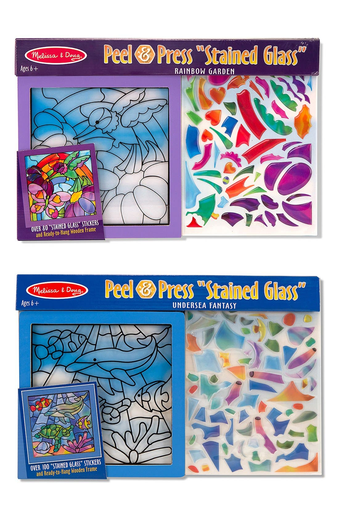 Melissa  Doug Undersea Fantasy  Rainbow Garden Peel  Press Sticker Kits