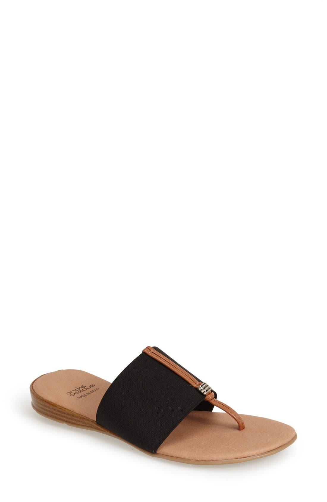 André Assous 'Nice' Sandal,                             Main thumbnail 1, color,                             001