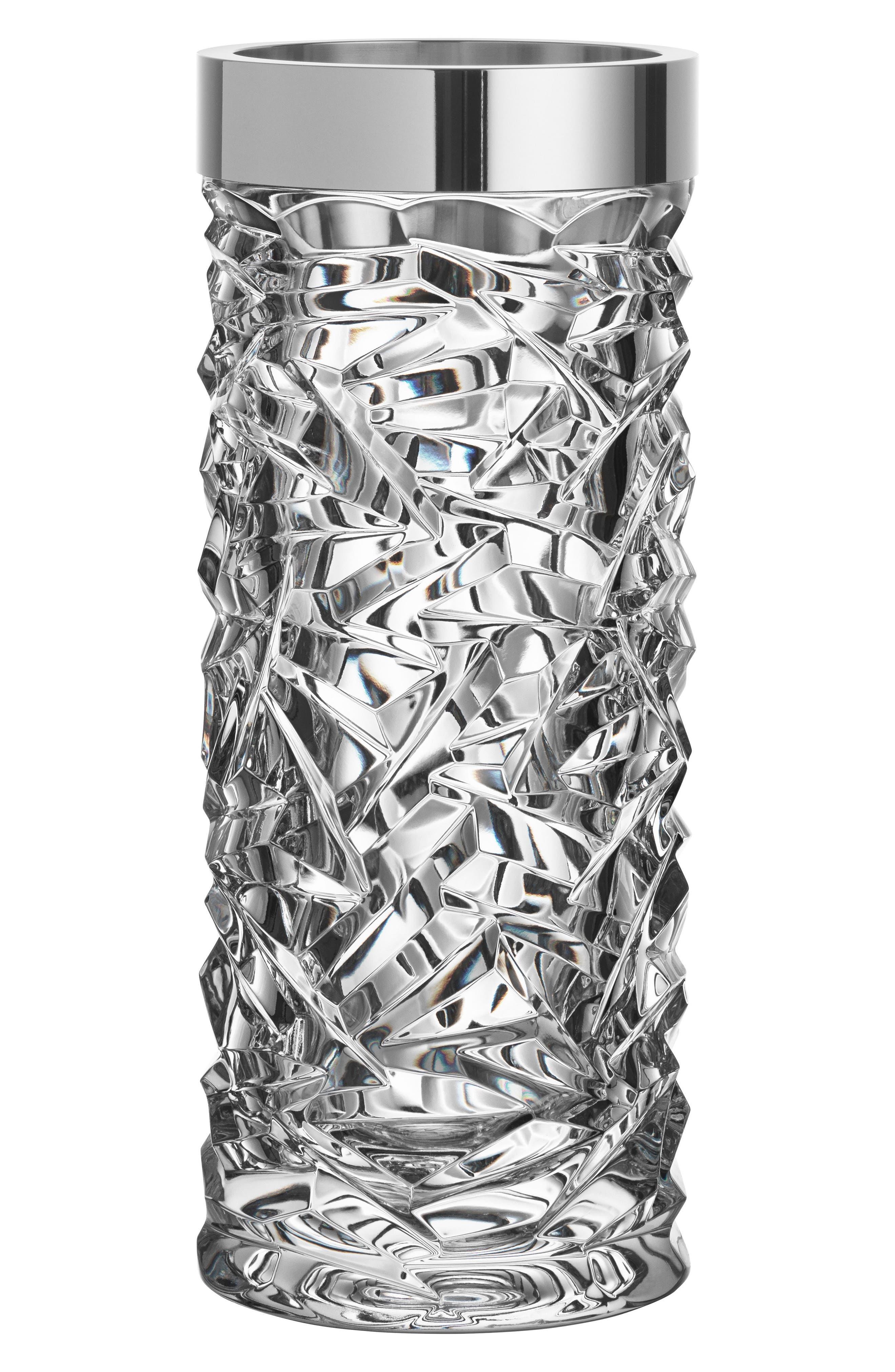 Carat Crystal Vase,                             Main thumbnail 1, color,                             100