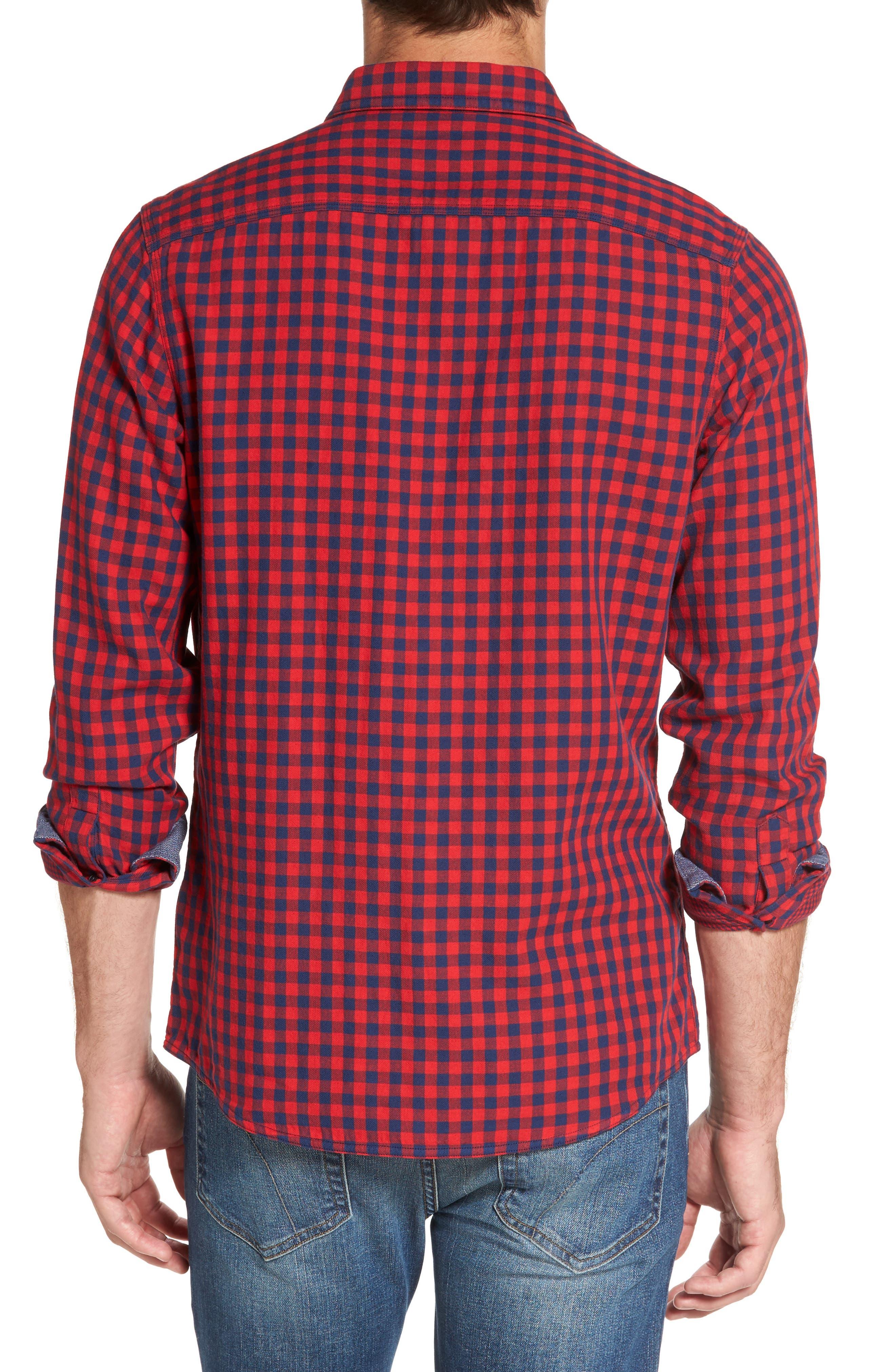 Buffalo Check Trim Fit Sport Shirt,                             Alternate thumbnail 2, color,                             610