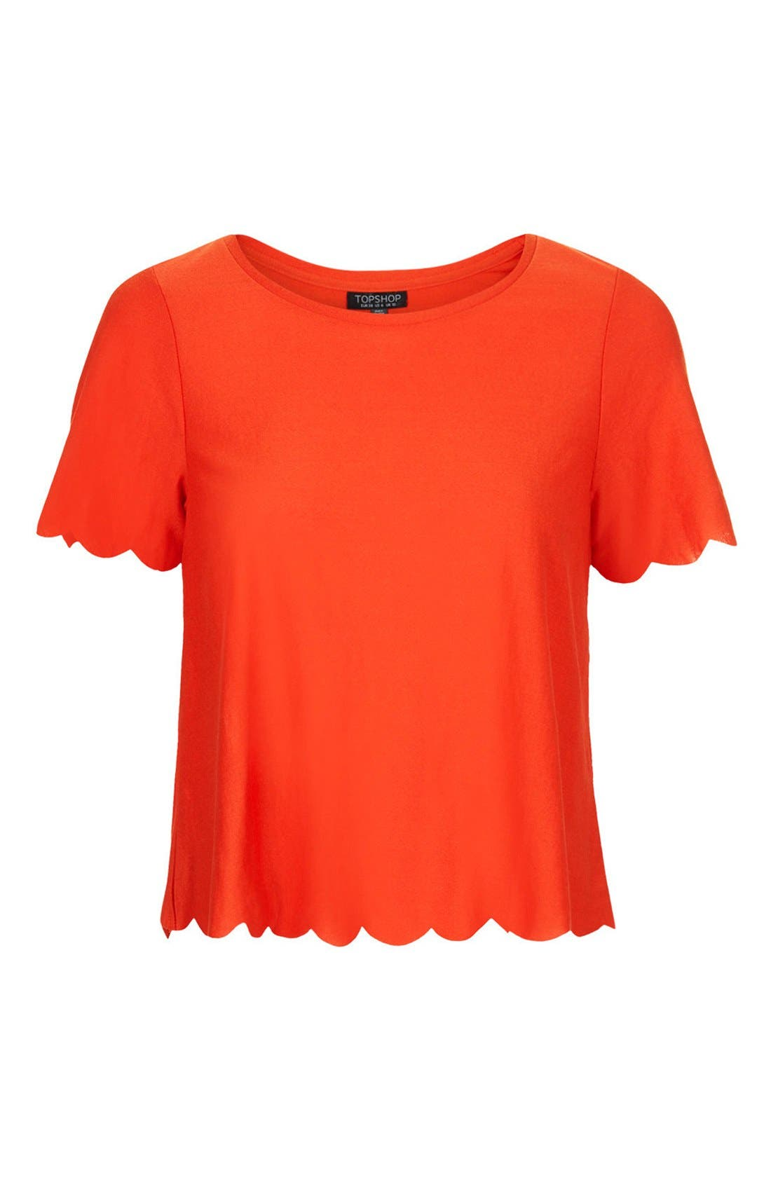 Scallop Frill Tee,                             Alternate thumbnail 50, color,