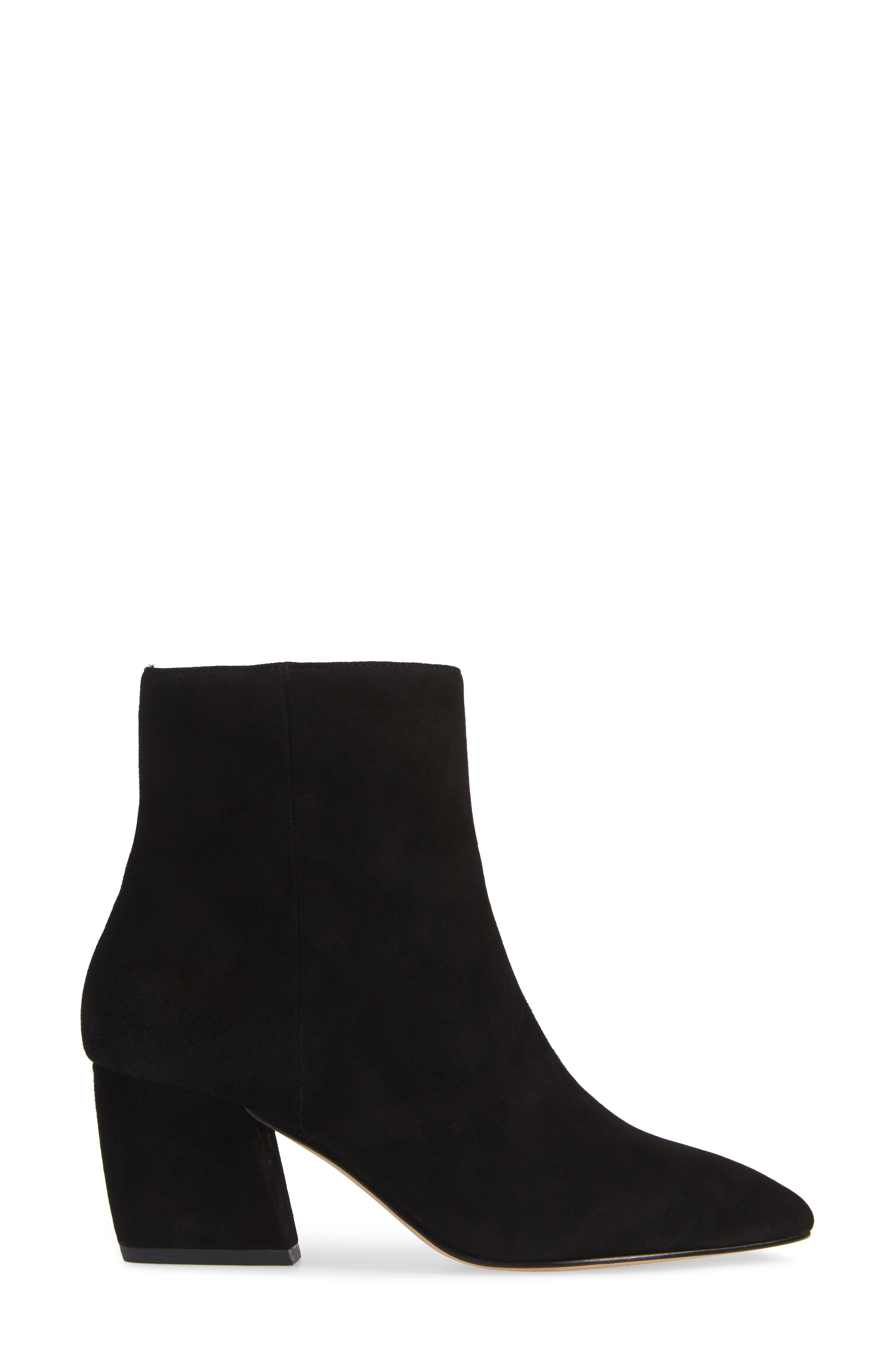 Sasha Bootie,                             Alternate thumbnail 3, color,                             BLACK SUEDE