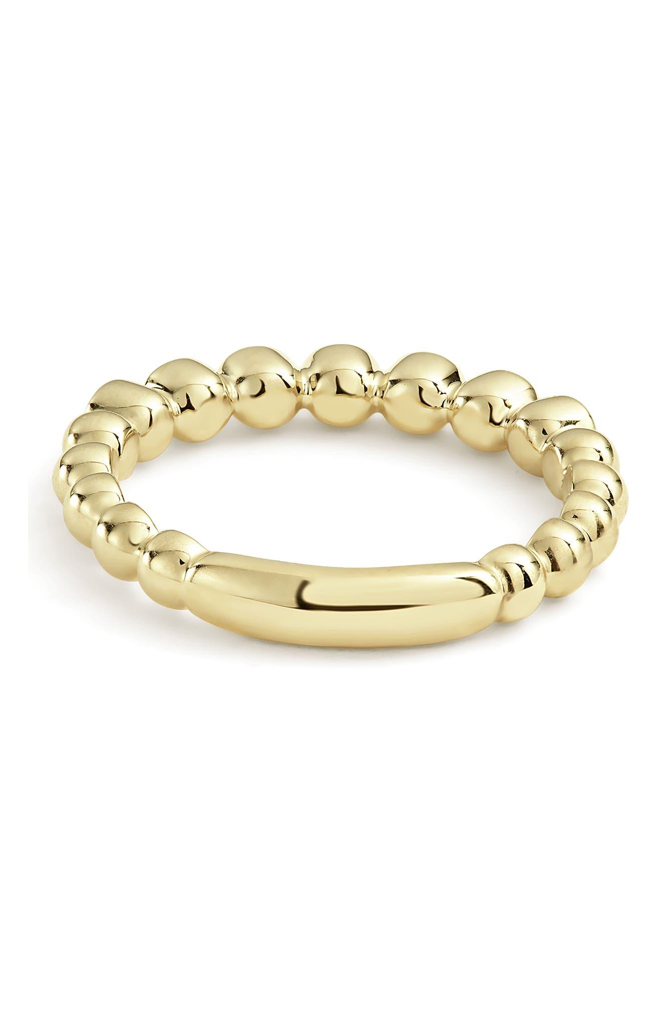 Covet Stone Caviar Stack Ring,                             Alternate thumbnail 5, color,                             GOLD/ DIAMOND