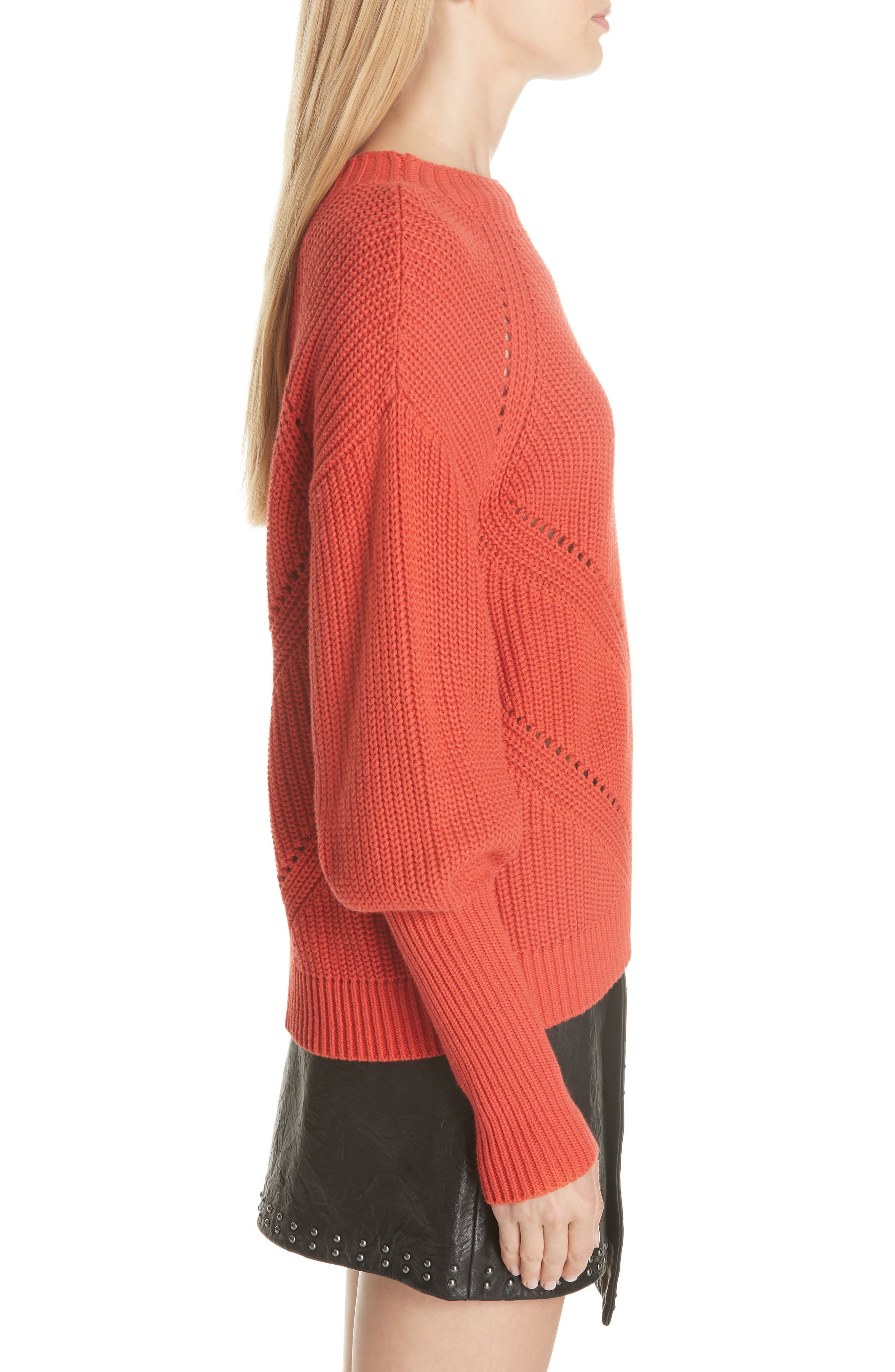 Landyn Blouson Sleeve Sweater,                             Alternate thumbnail 3, color,                             600