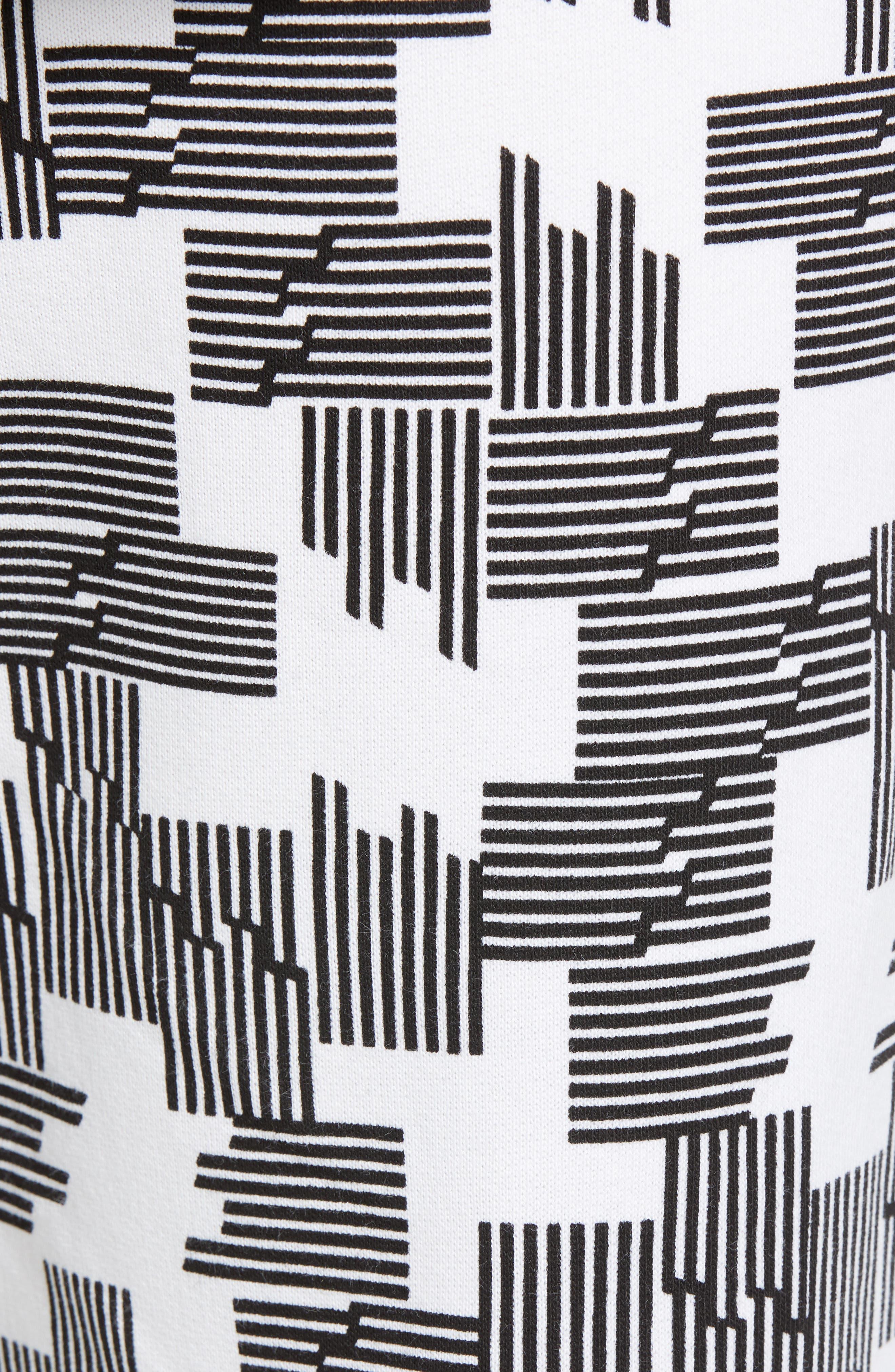 Baker Puzzle Check Sweatpants,                             Alternate thumbnail 5, color,                             BLACK