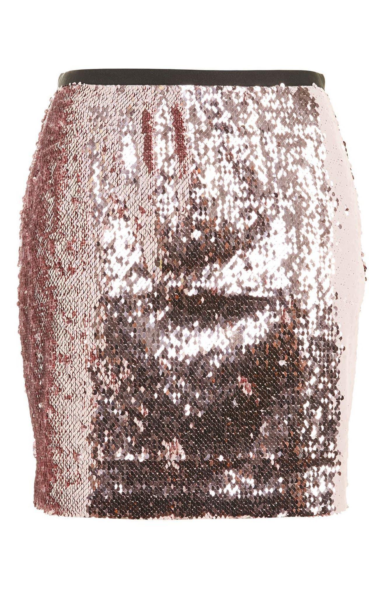 Sequin Miniskirt,                             Alternate thumbnail 3, color,                             680