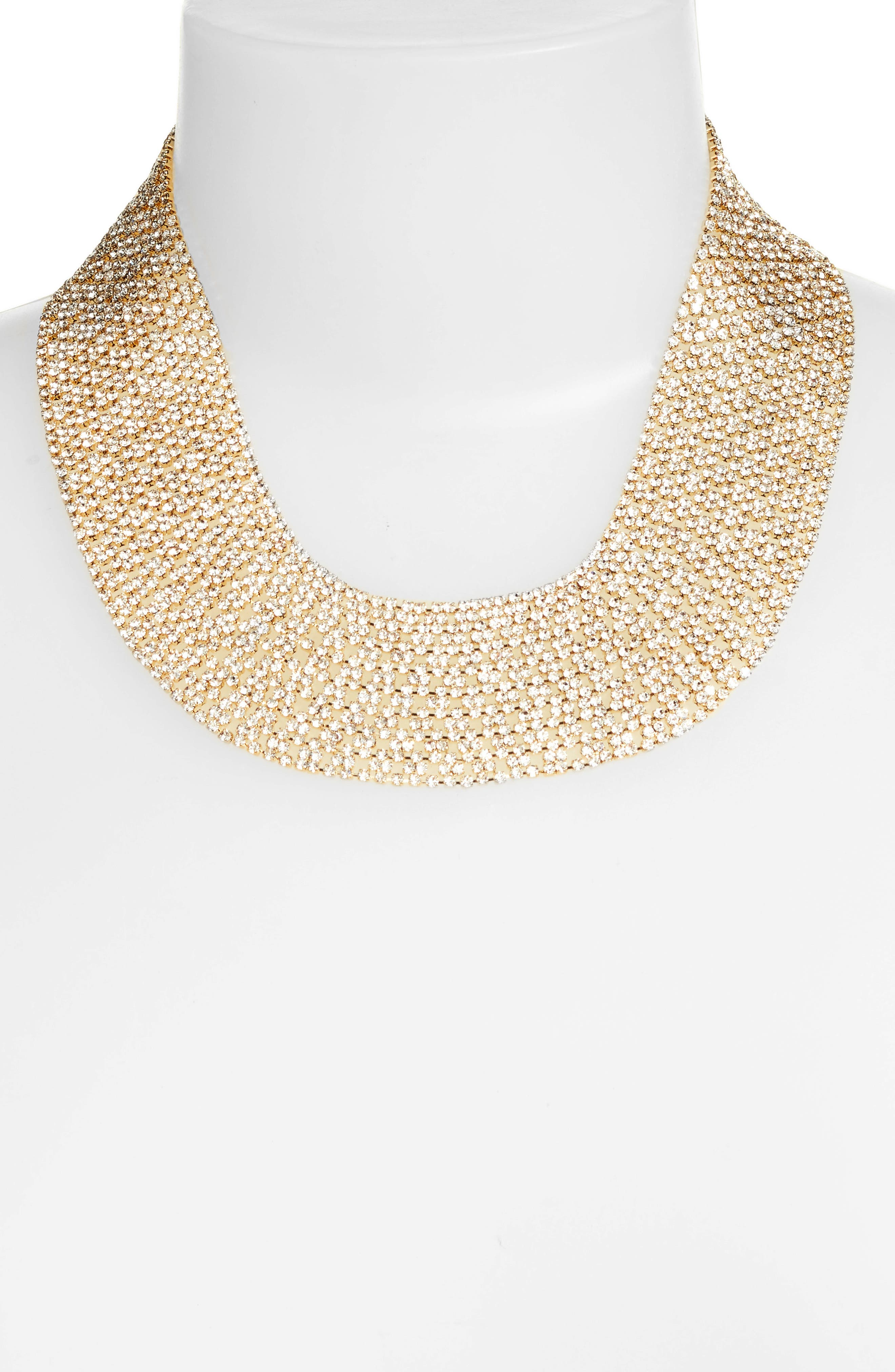 Crystal Collar Necklace,                             Alternate thumbnail 8, color,