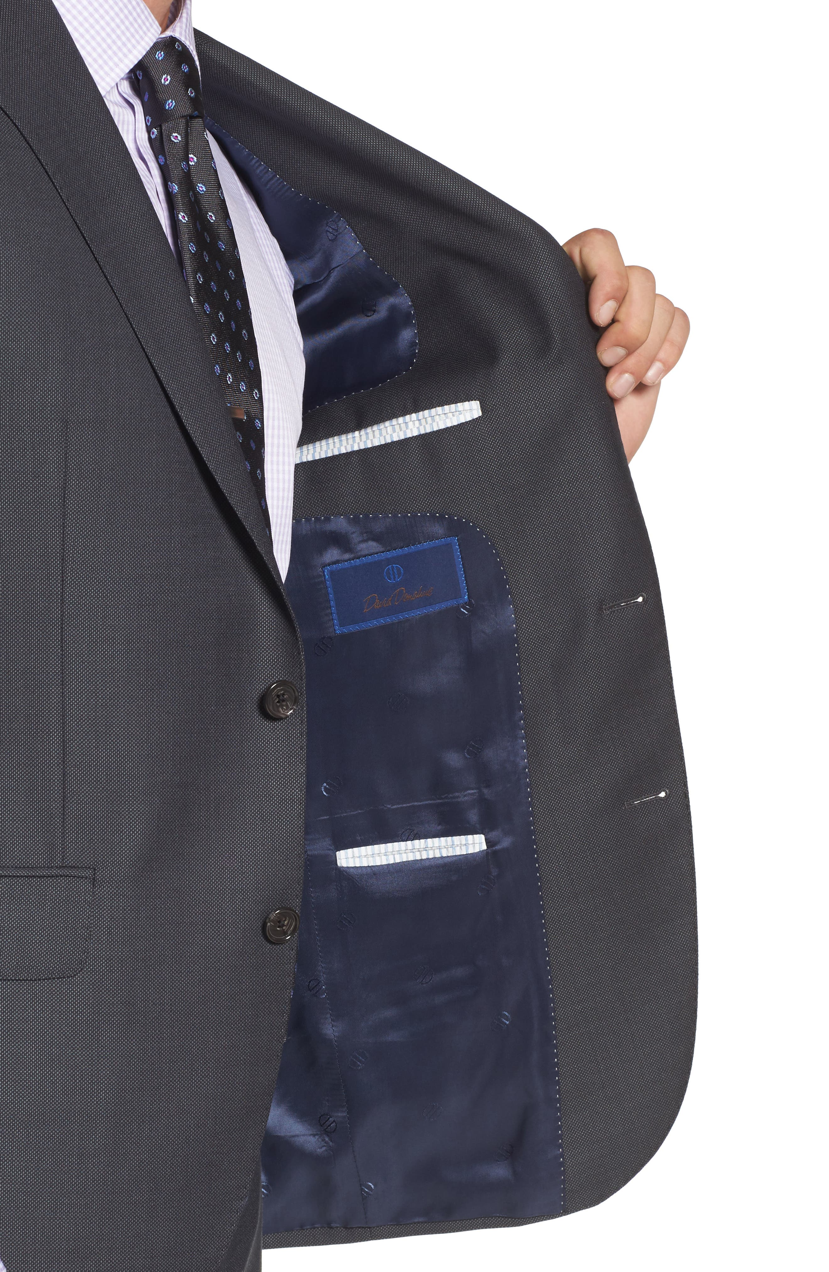 Ryan Classic Fit Solid Wool Suit,                             Alternate thumbnail 4, color,                             010