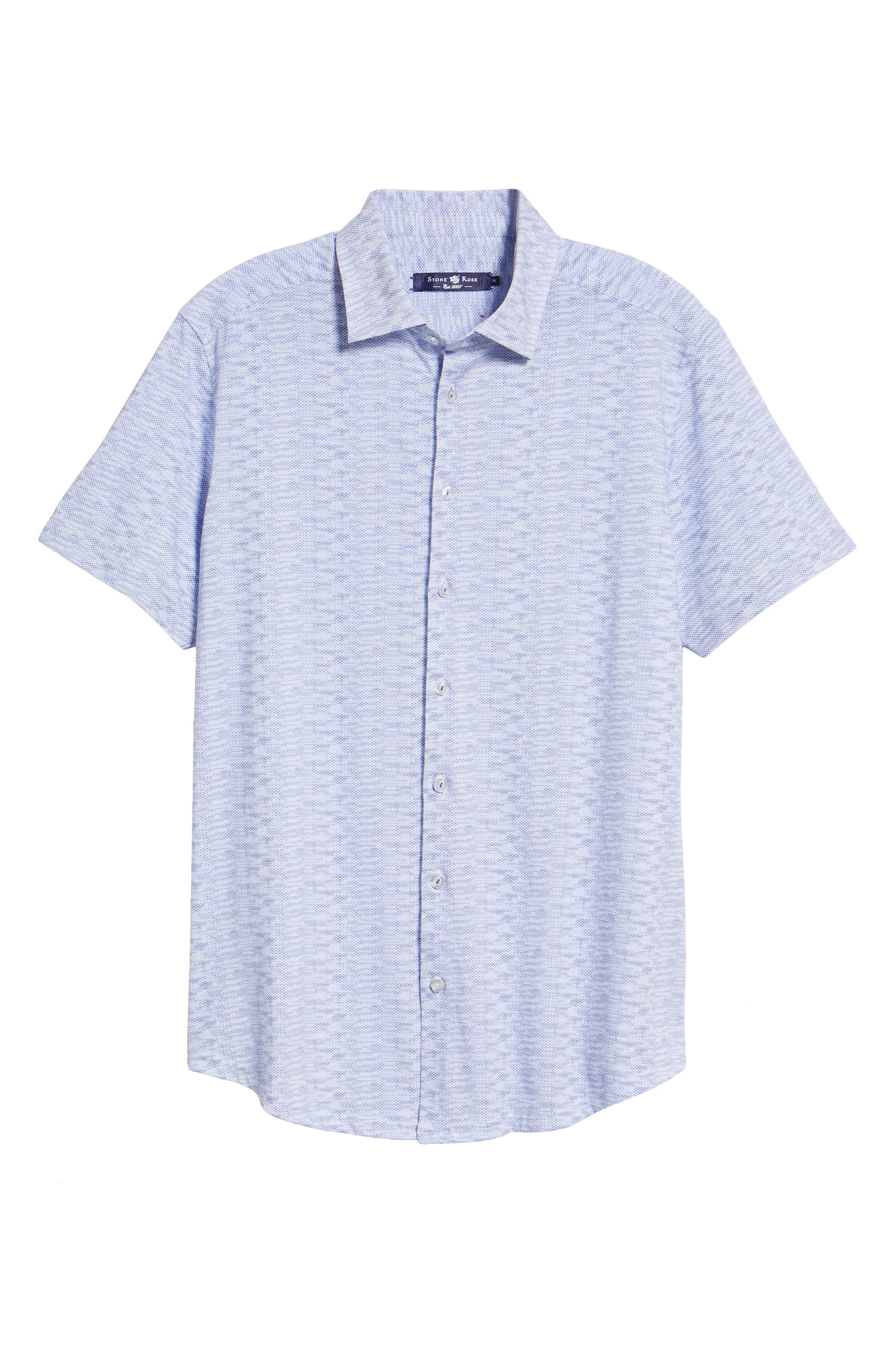 Heather Regular Fit Knit Sport Shirt,                             Alternate thumbnail 5, color,                             400