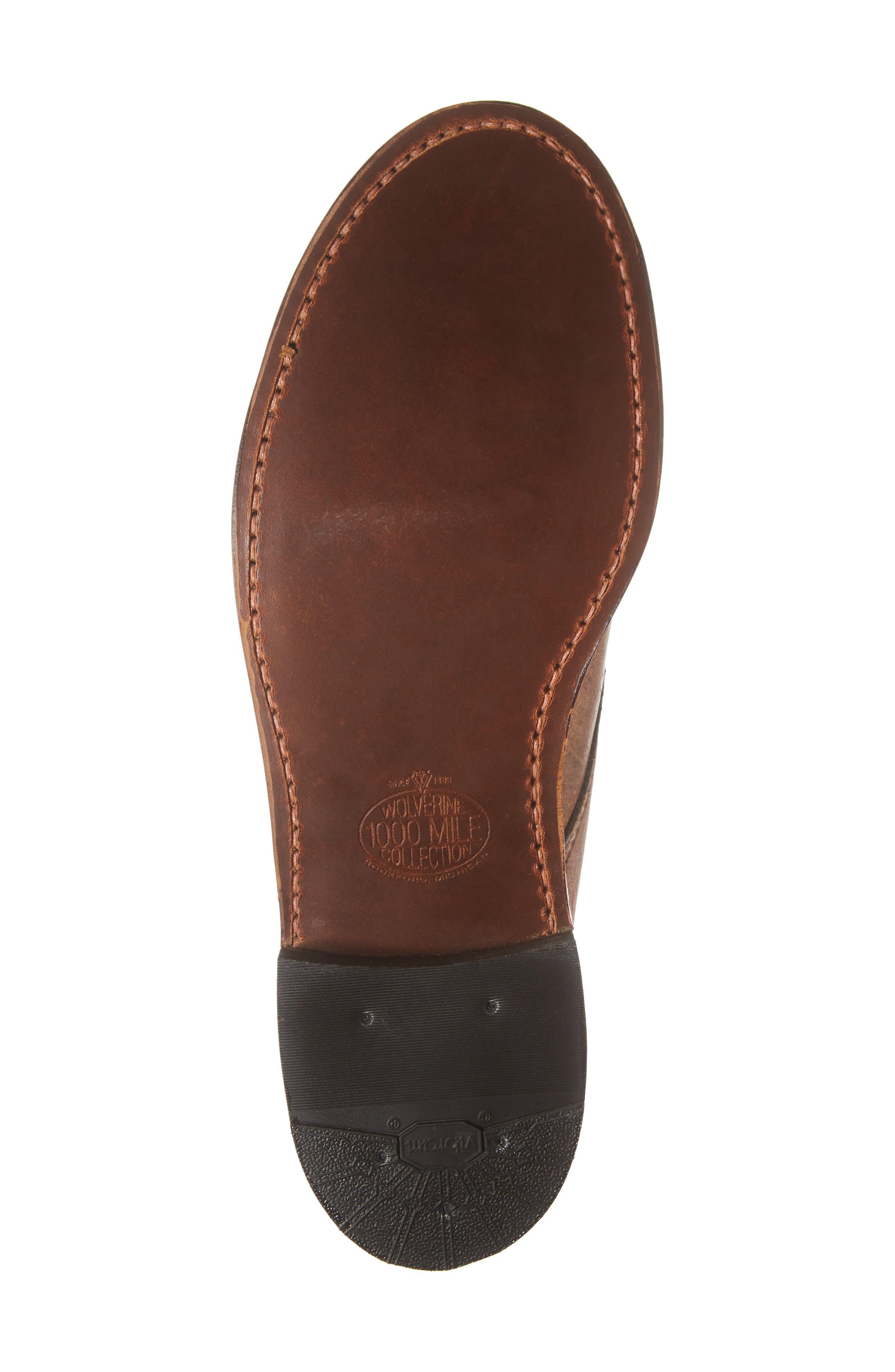 '1000 Mile' Plain Toe Boot,                             Alternate thumbnail 6, color,                             COGNAC