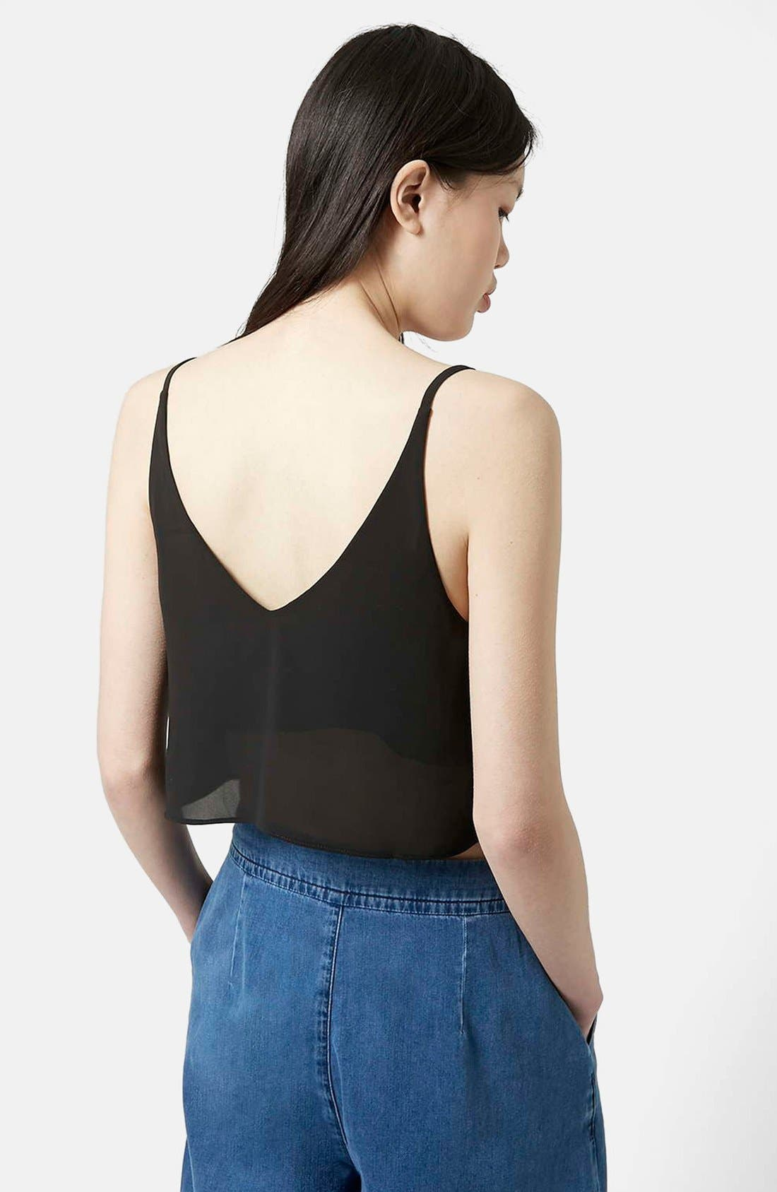 Crop Camisole,                             Alternate thumbnail 2, color,                             001