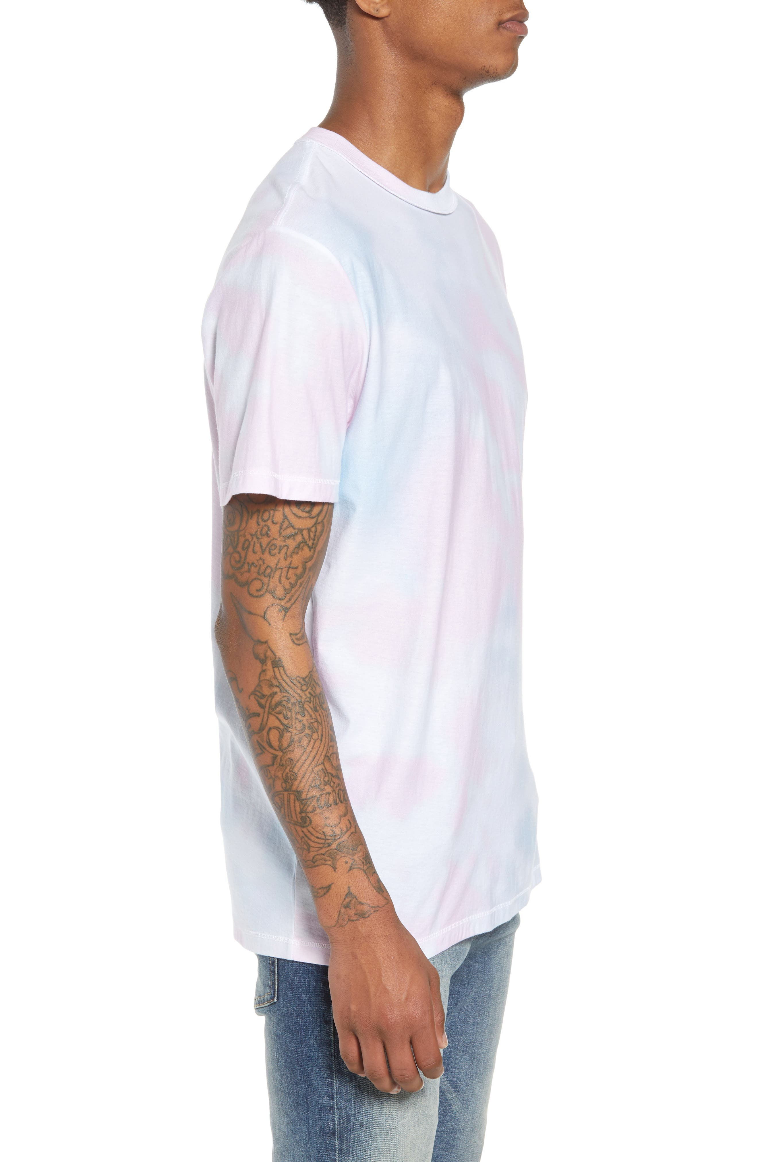 Reverse Tie Dye T-Shirt,                             Alternate thumbnail 3, color,                             100