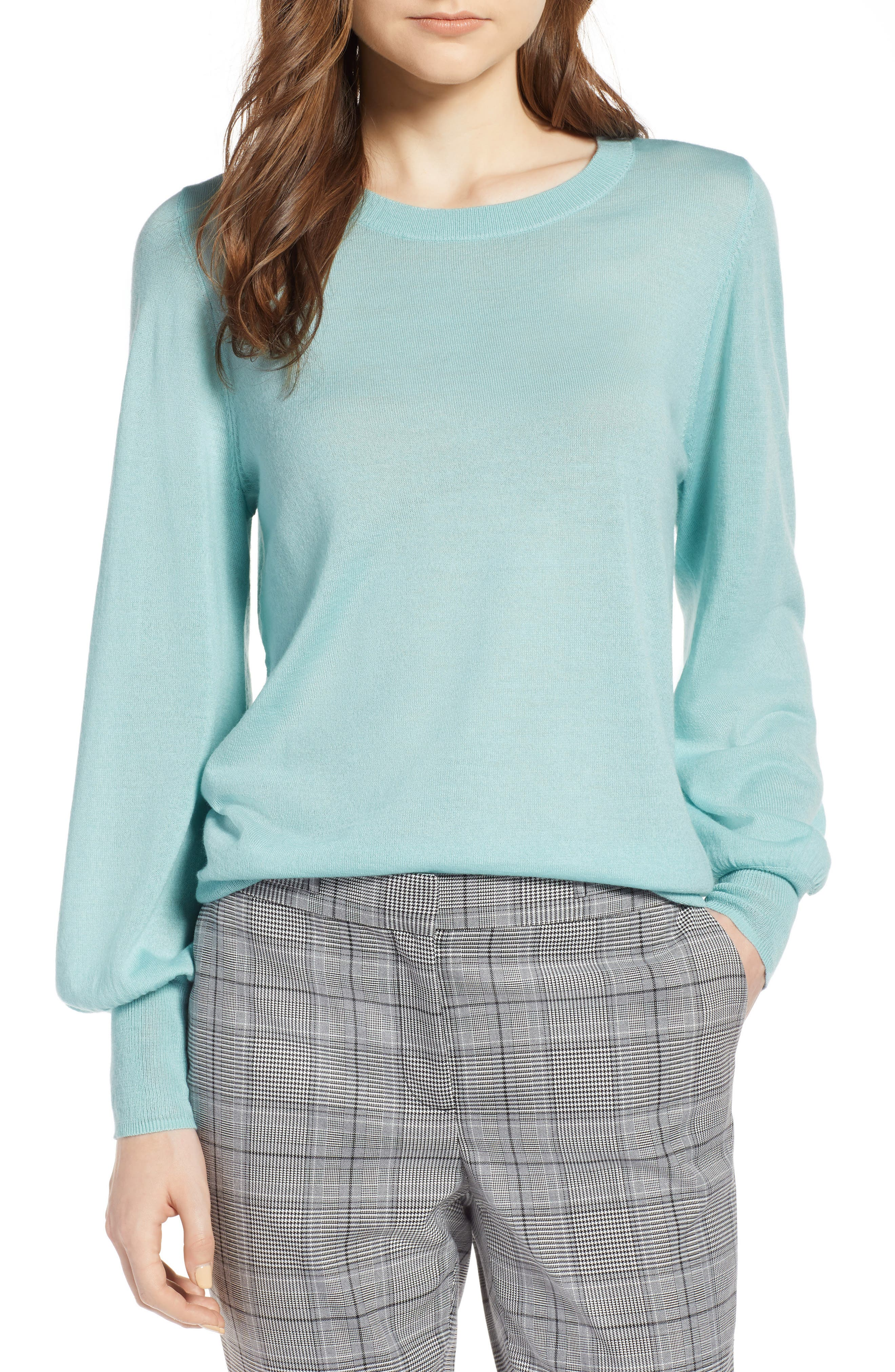 Puff Sleeve Sweater,                             Main thumbnail 7, color,