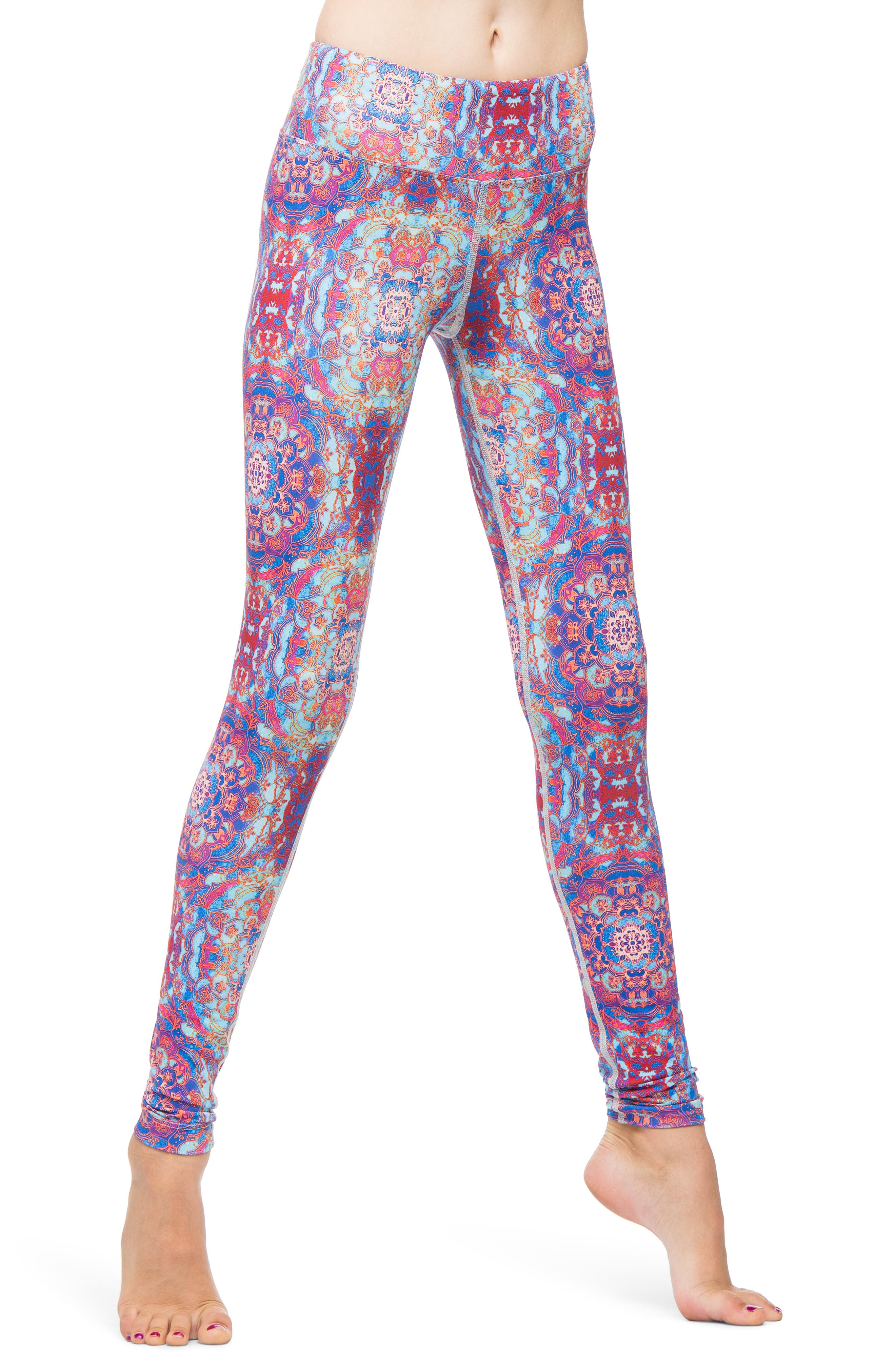 Stained Glass Leggings,                         Main,                         color, RED STAINED GLASS