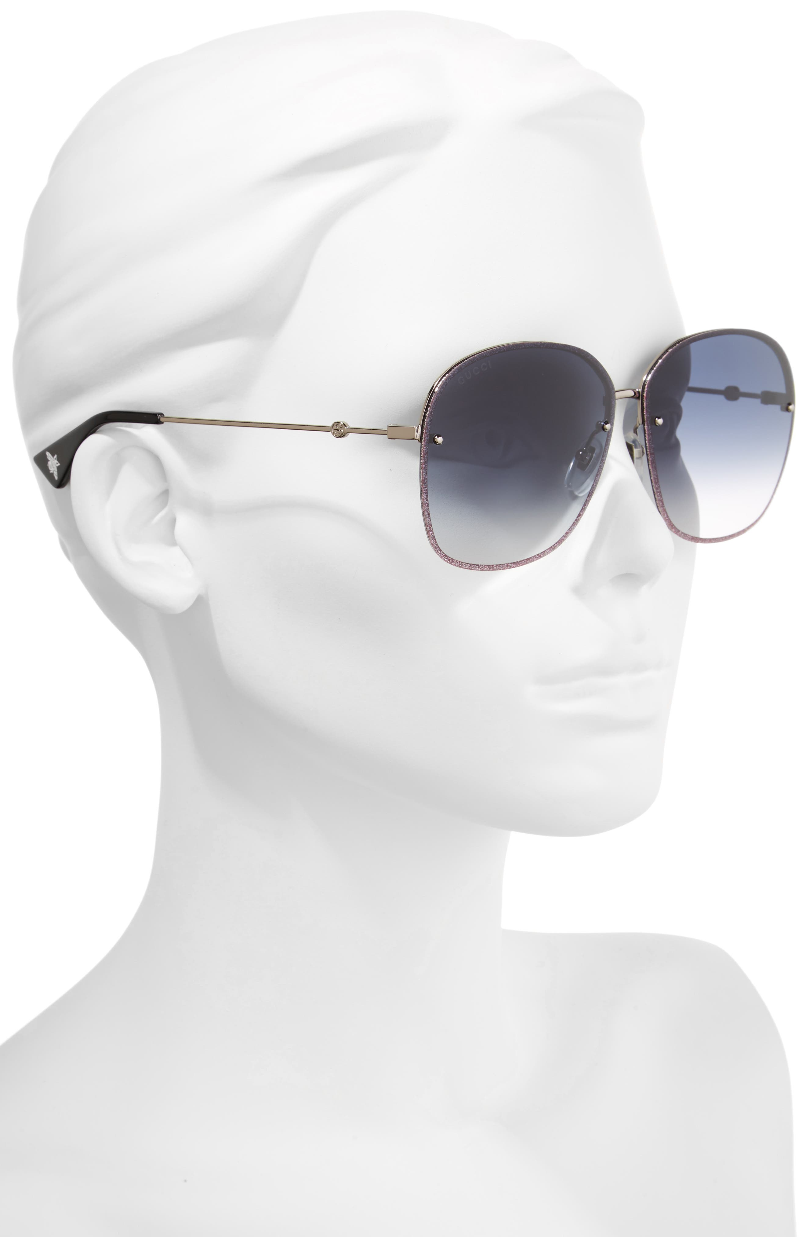 GUCCI,                             63mm Oversize Square Sunglasses,                             Alternate thumbnail 2, color,                             040
