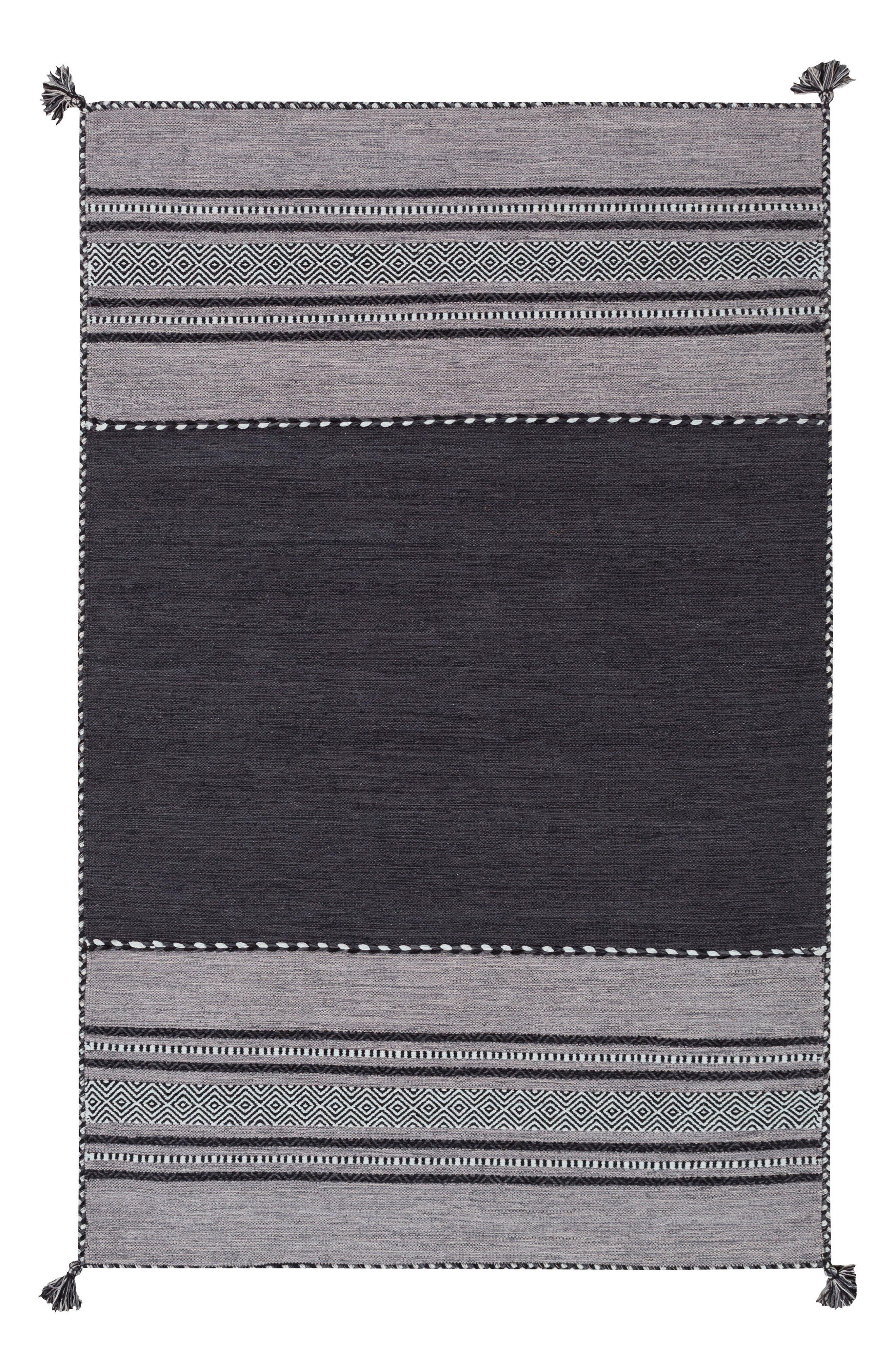 Trenza Global Stripe Rug,                             Main thumbnail 1, color,                             001