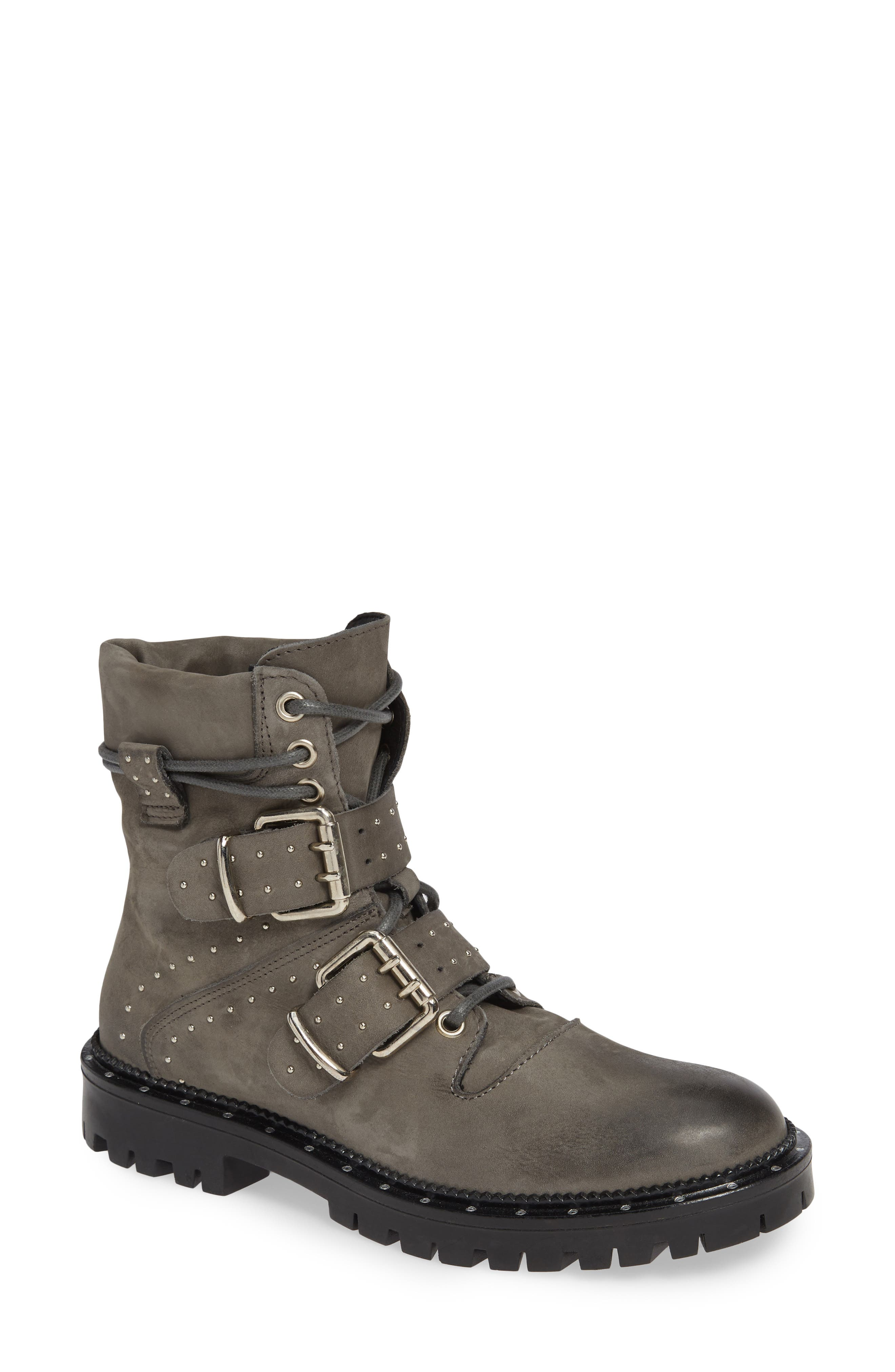 Free People Mountain Brook Studded Hiker Boot, Grey