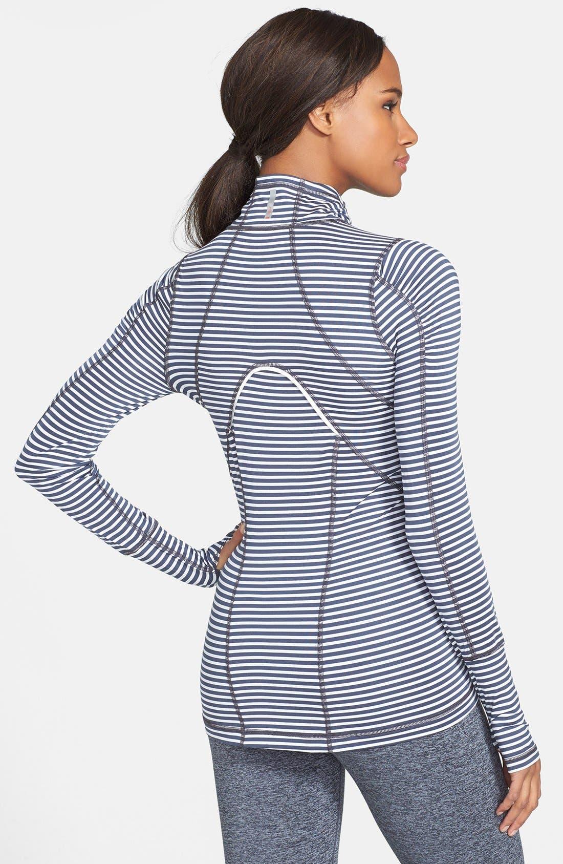 'Run' Stripe Half Zip Pullover,                             Alternate thumbnail 3, color,                             020